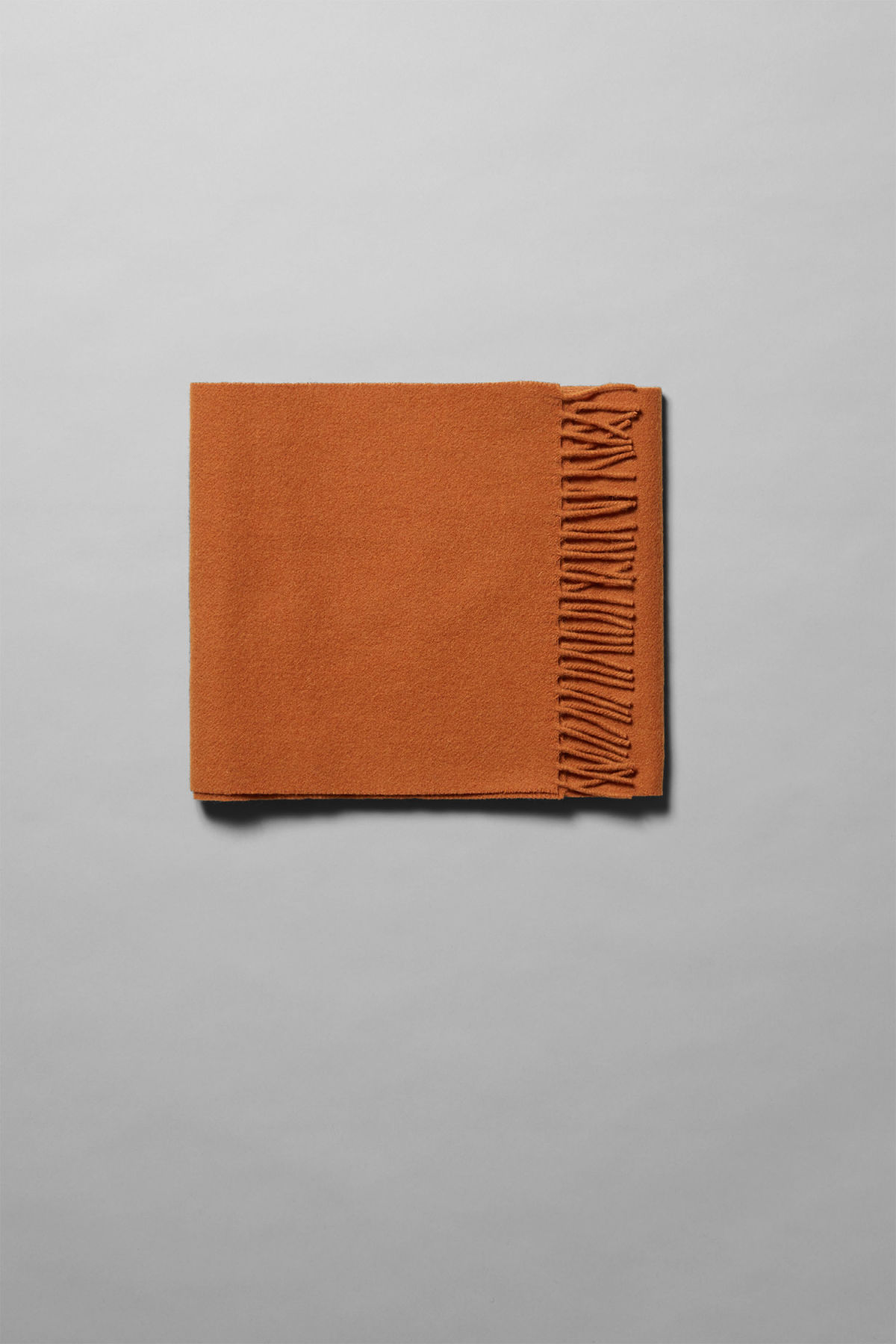 Front image of Weekday orbit scarf in orange