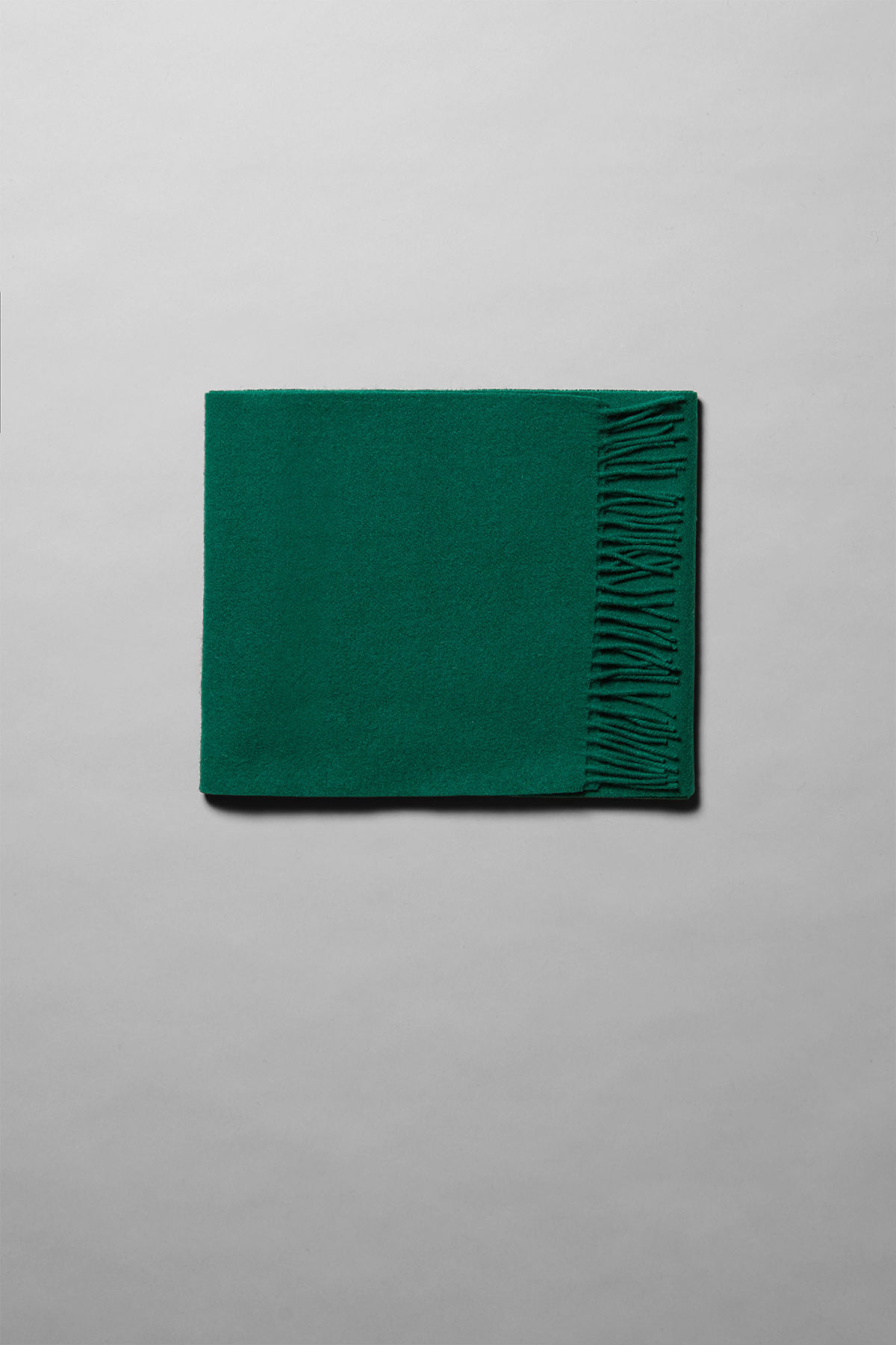 Front image of Weekday orbit scarf in green