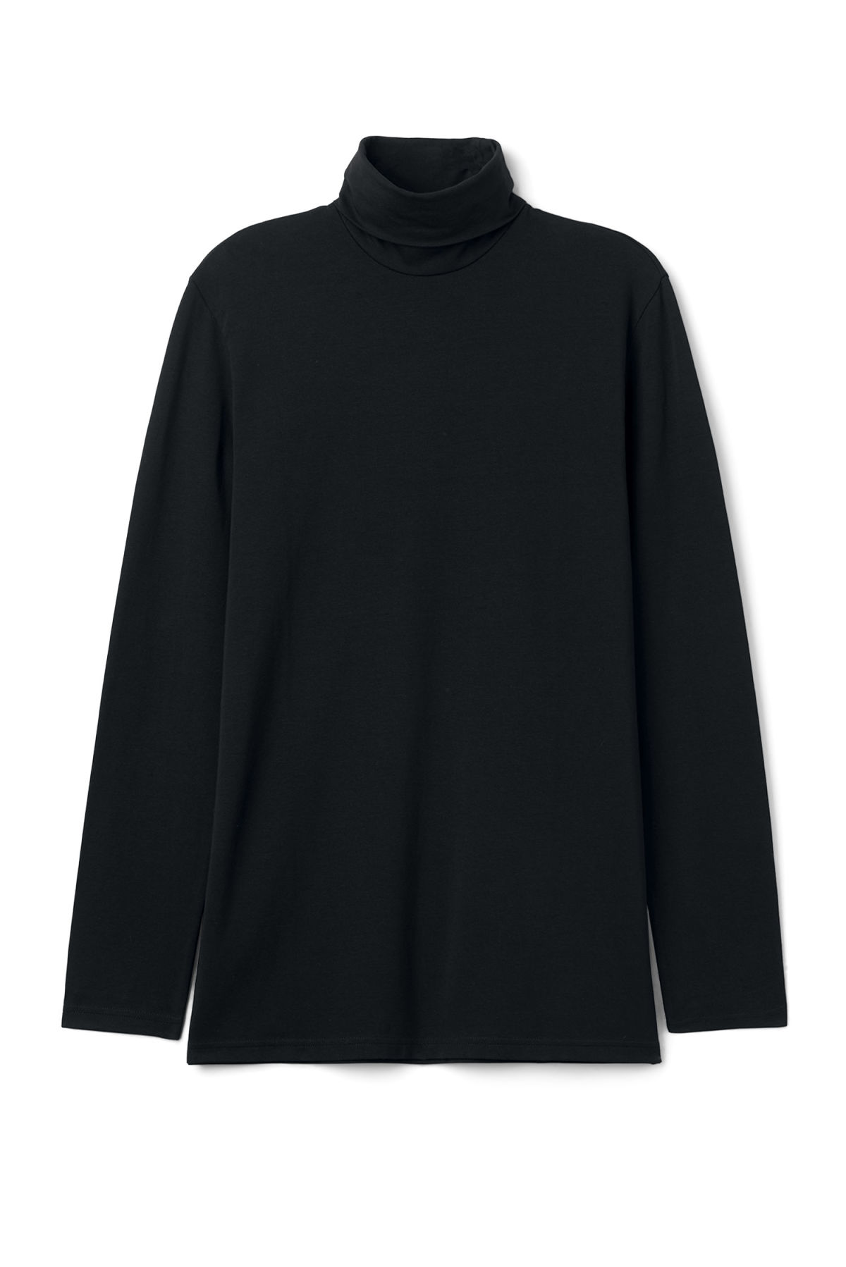 Front image of Weekday turtle long sleeve in black
