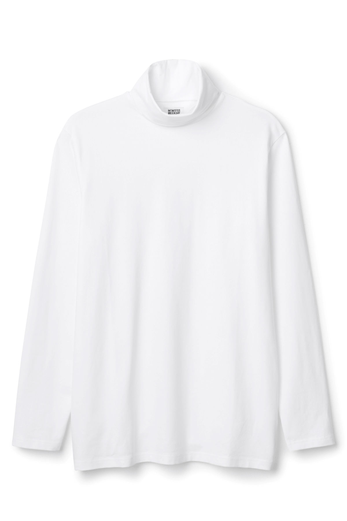 Front image of Weekday turtle long sleeve in white