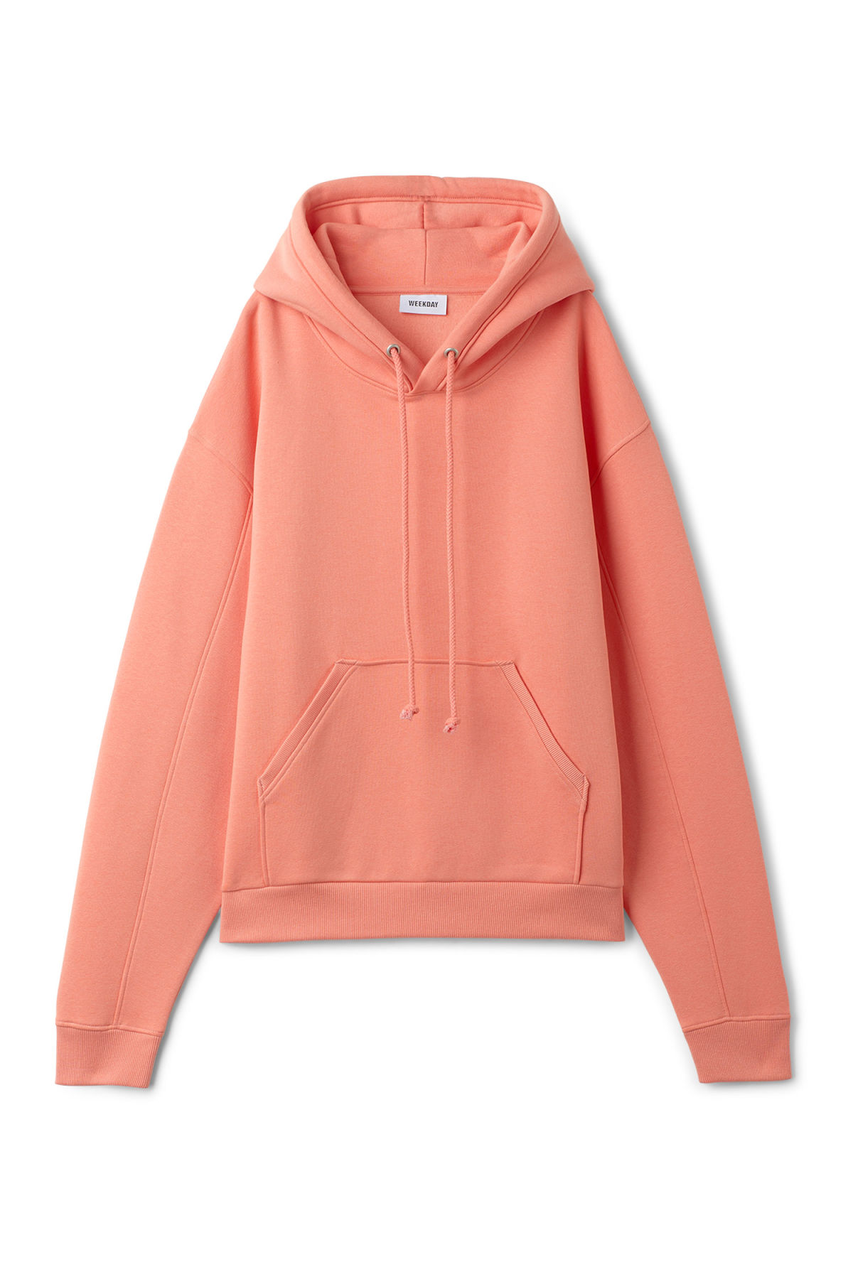 Front image of Weekday ailin hooded sweatshirt in orange