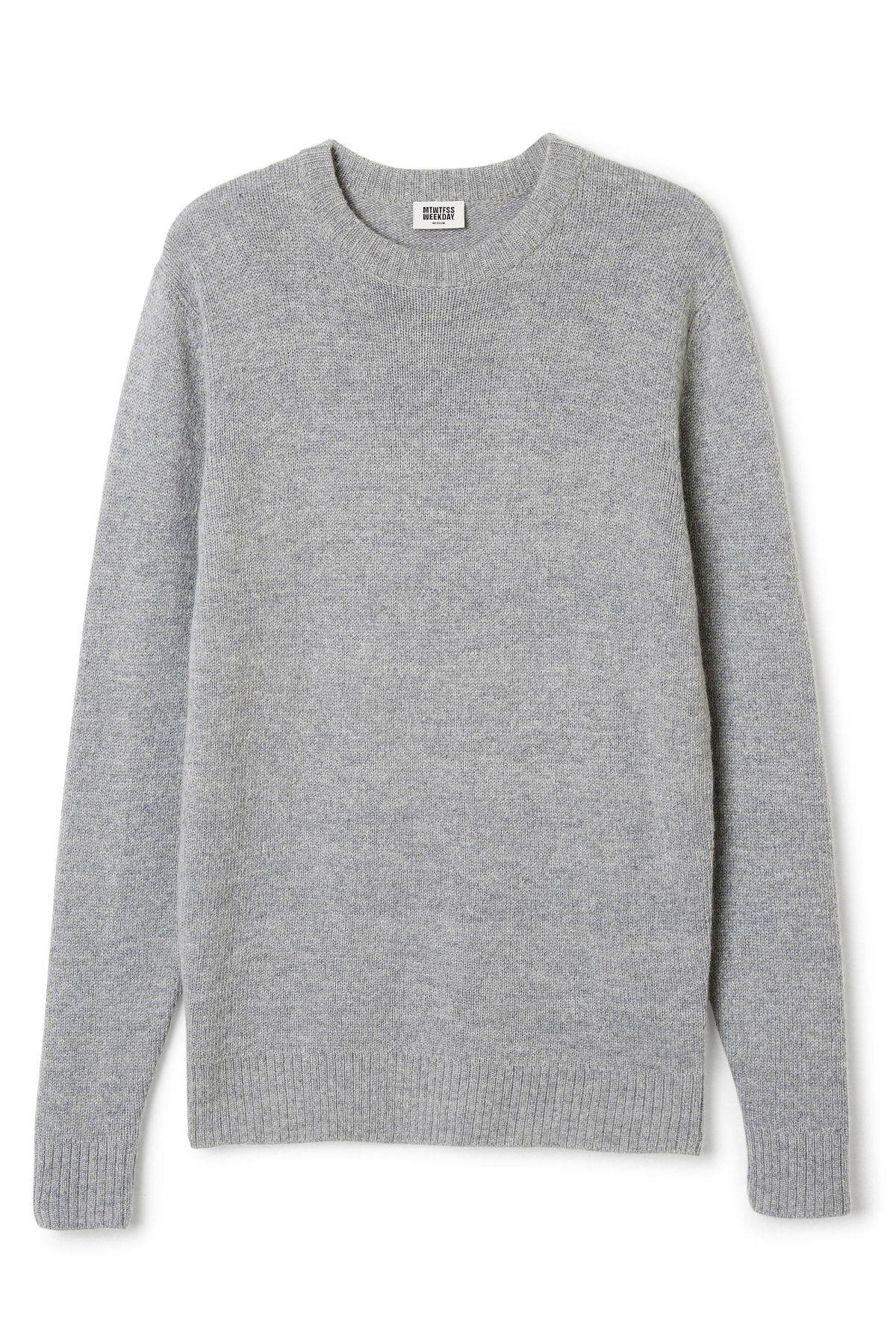 Front image of Weekday knit sweater  in grey