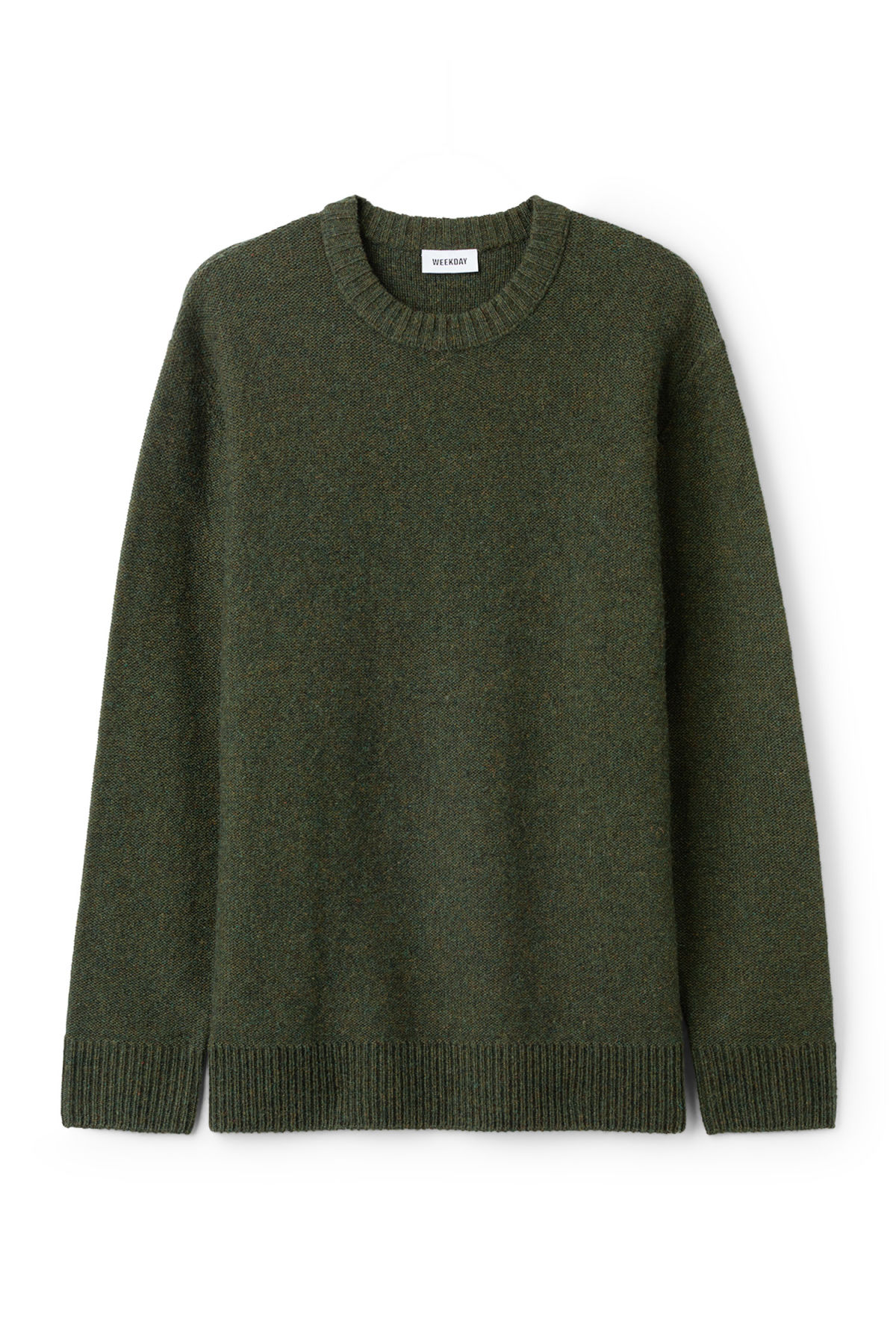 Front image of Weekday knit sweater  in green