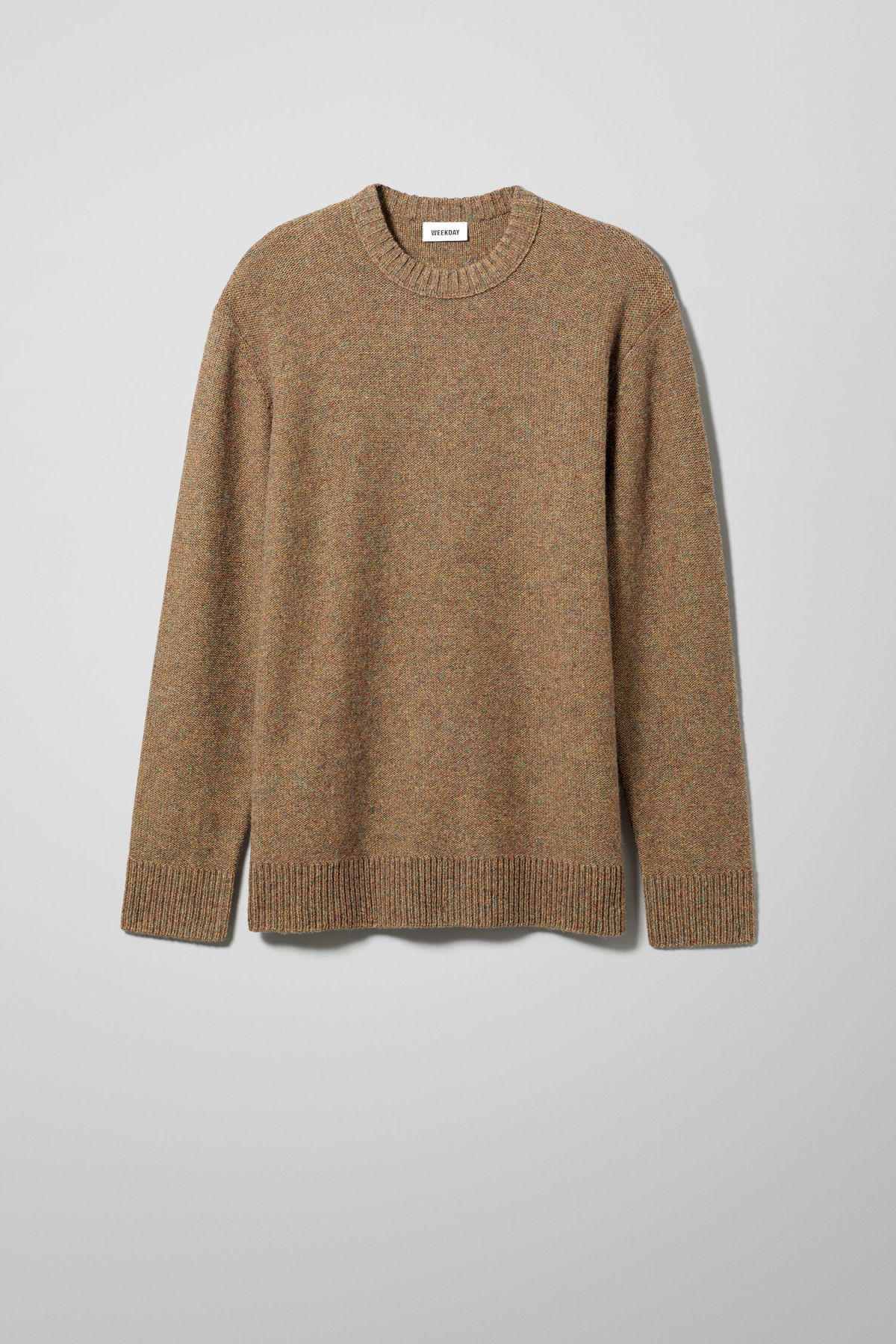 Front image of Weekday knit sweater  in beige