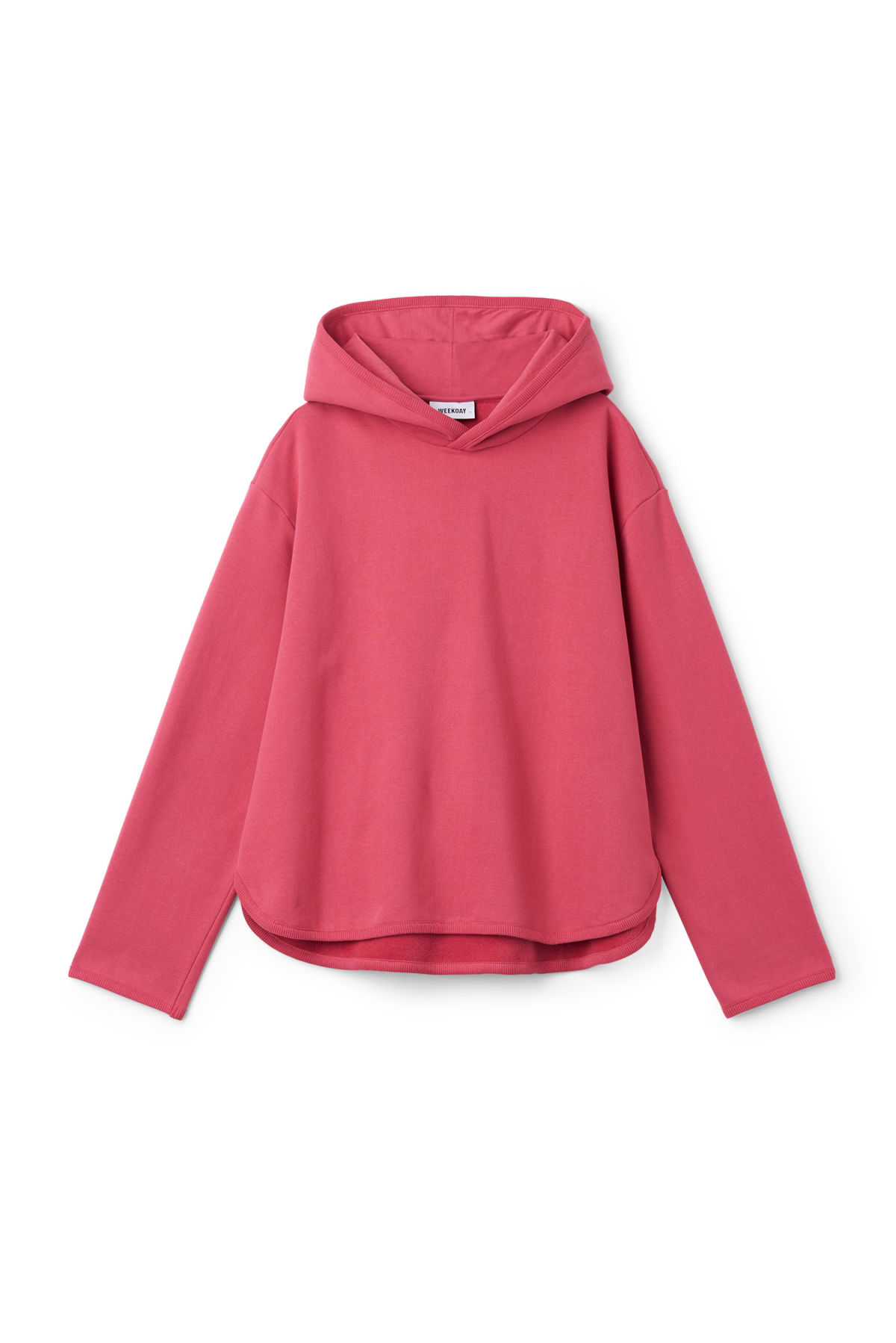 Front image of Weekday korea sweatshirt in pink