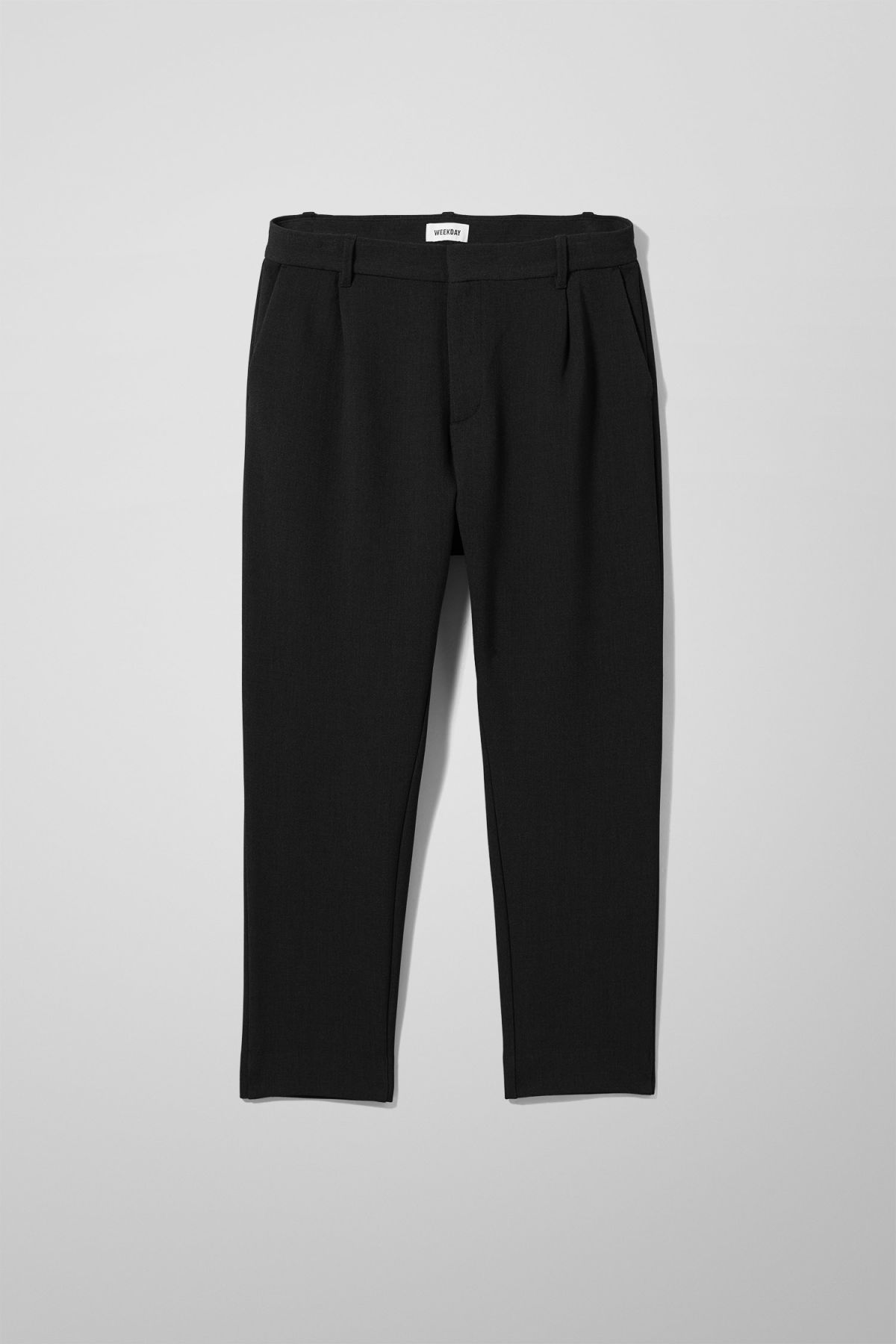 Front image of Weekday mard trousers in black