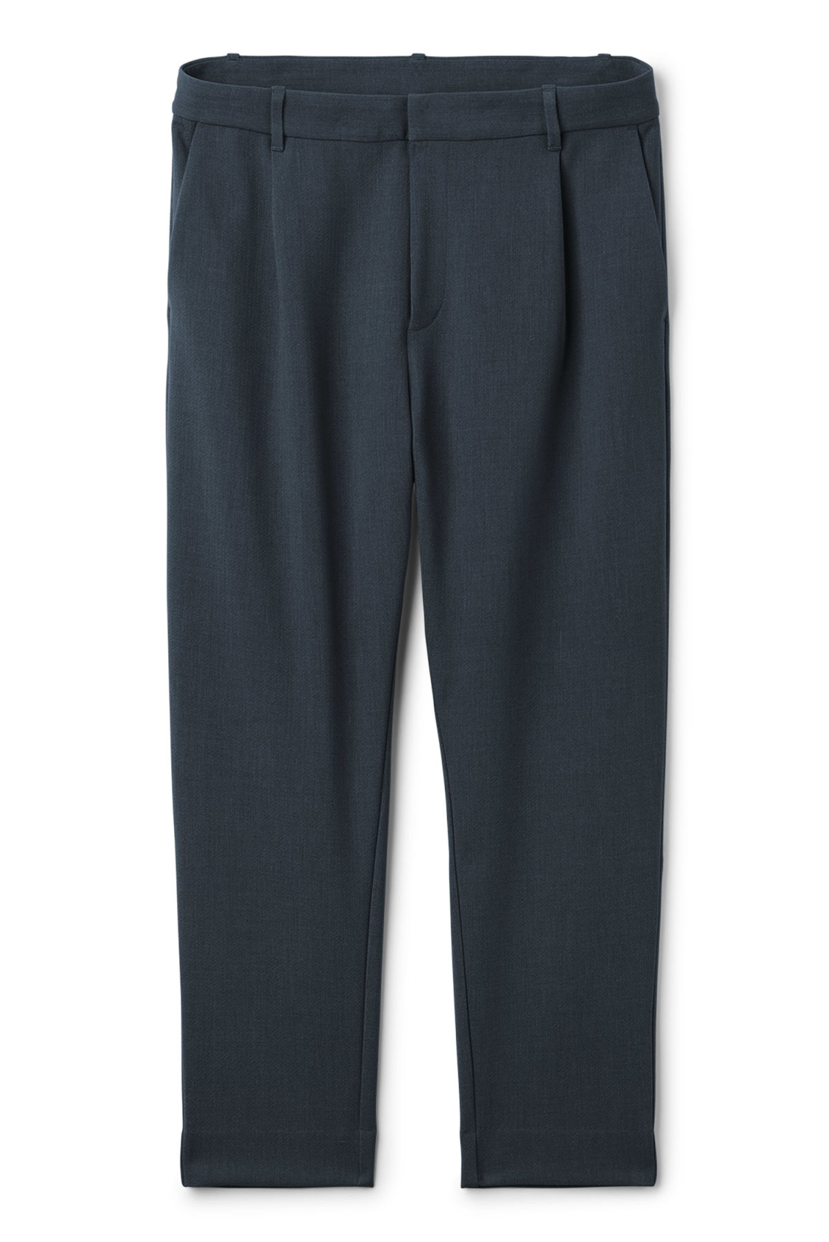 Front image of Weekday mard trousers in blue