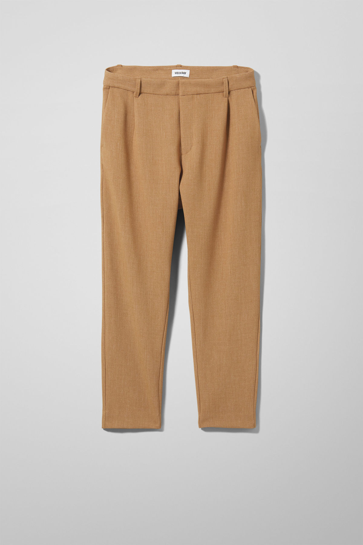 Front image of Weekday mard trousers in beige