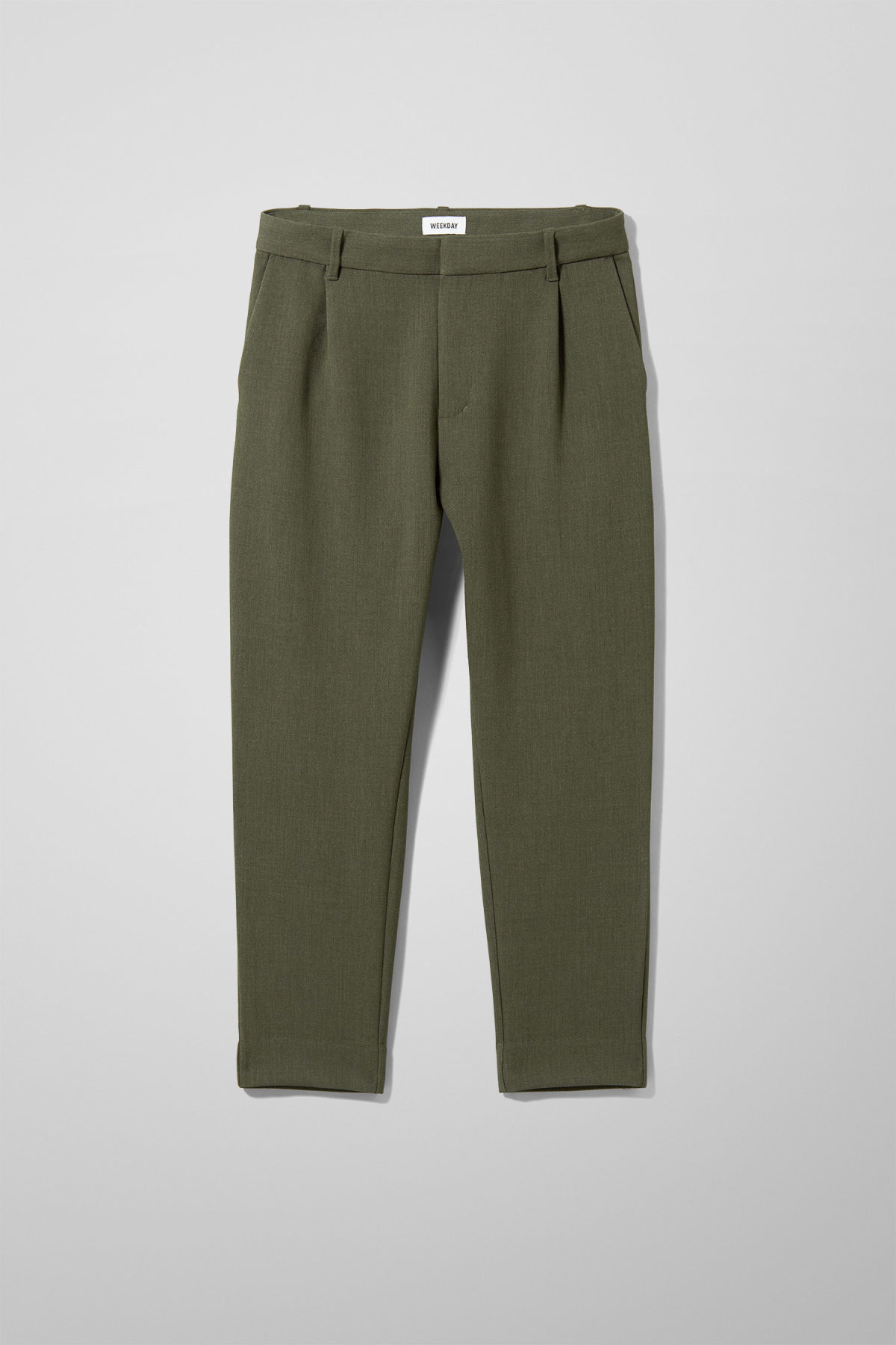 Front image of Weekday mard trousers in green