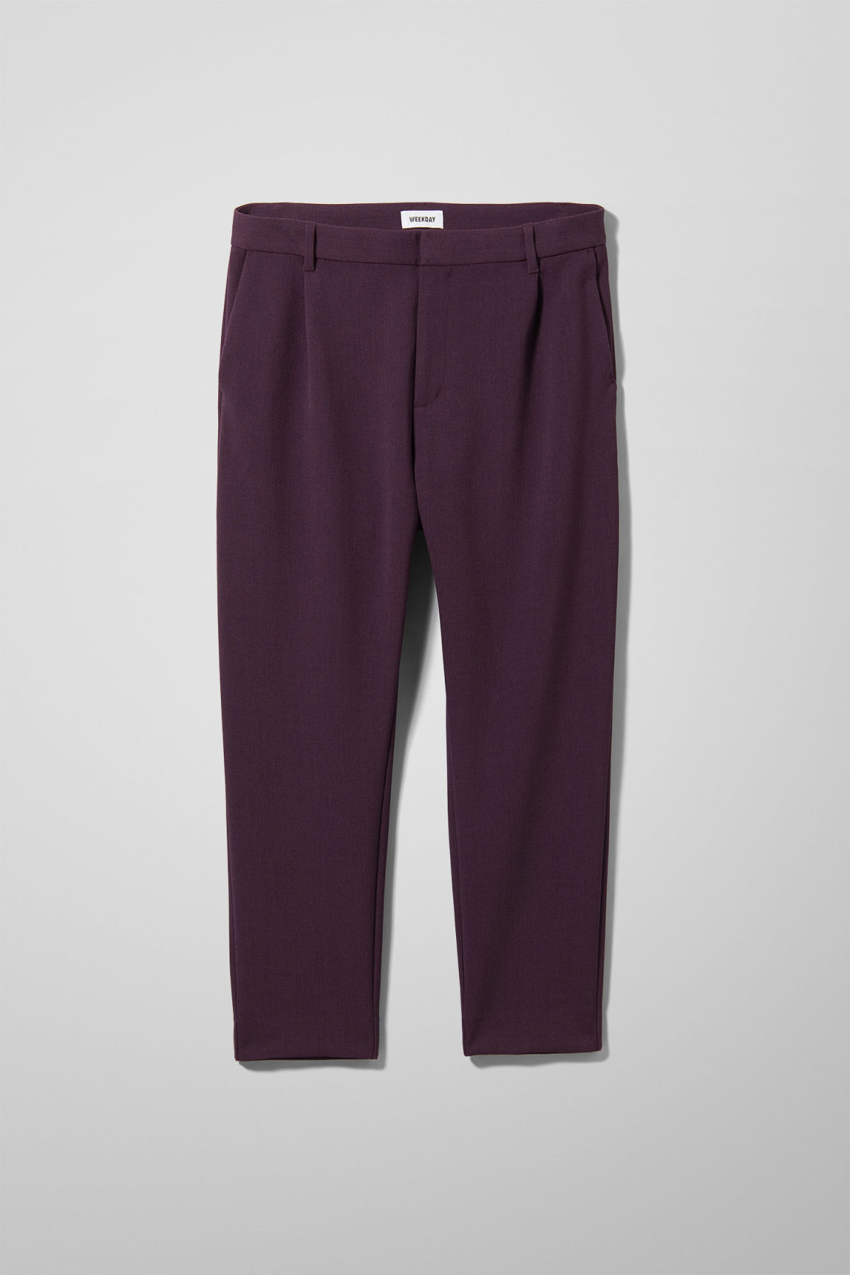 Front image of Weekday mard trousers in purple