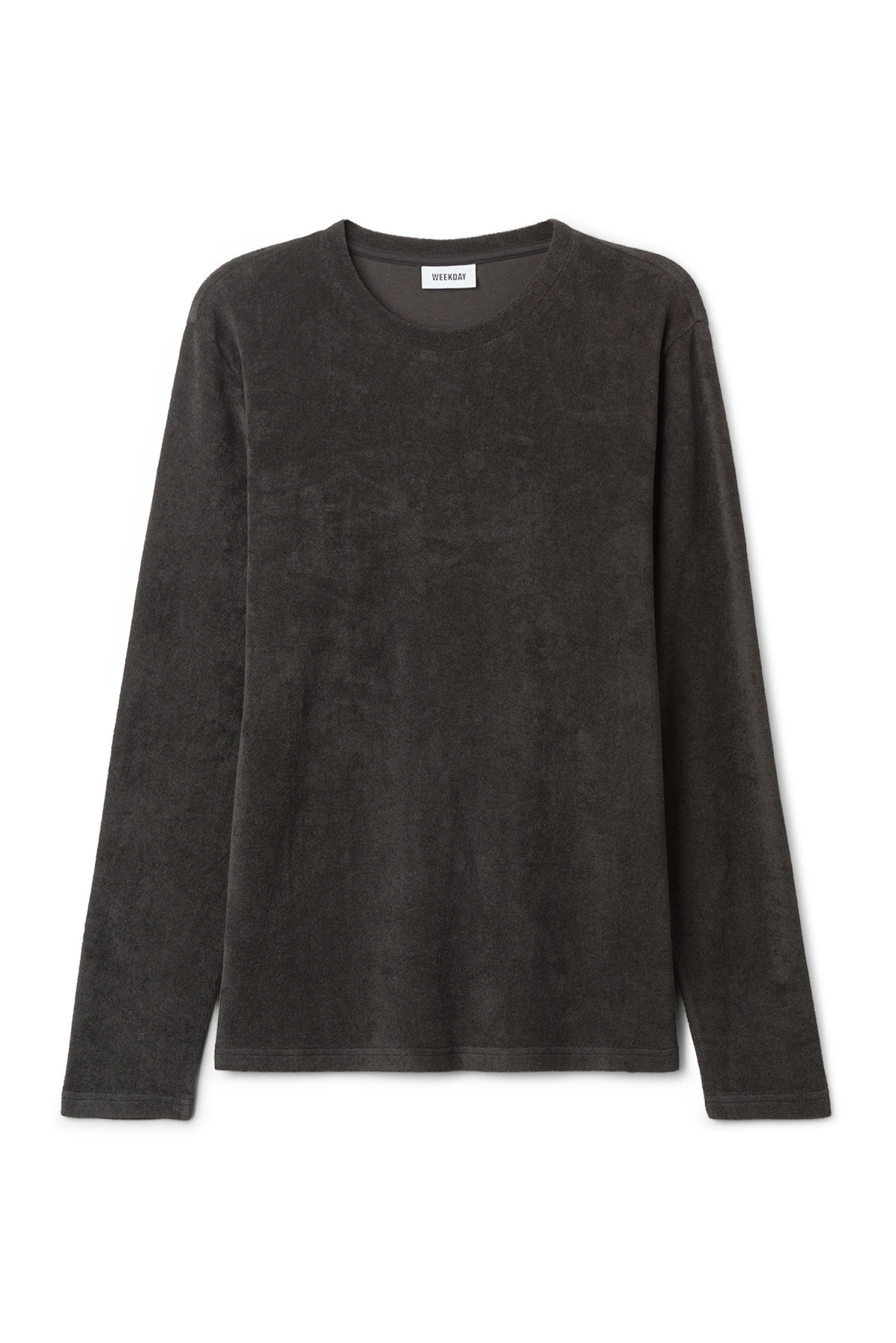 Front image of Weekday towel long sleeve in black