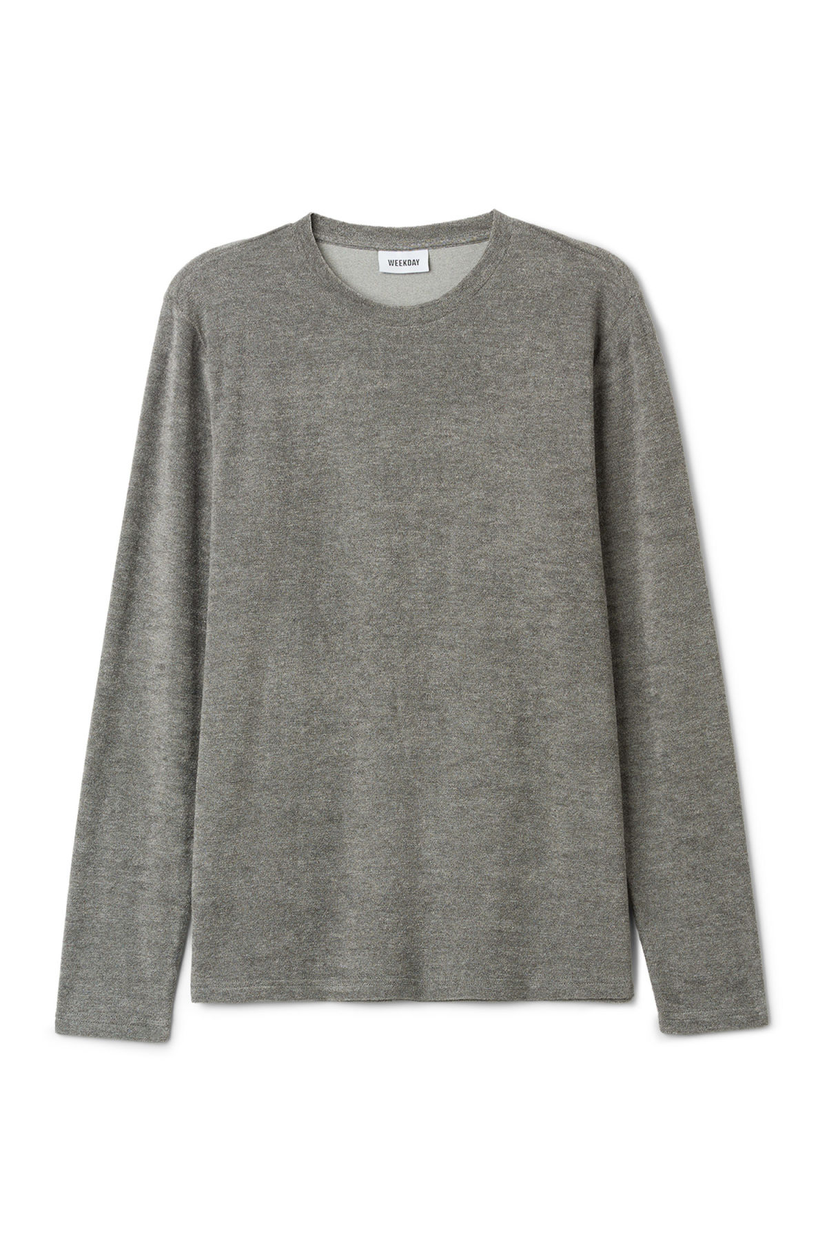 Front image of Weekday towel long sleeve in grey