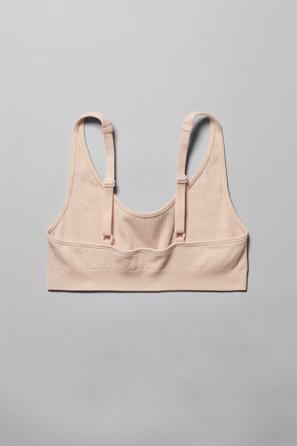 Side image of Weekday cat soft bra in beige