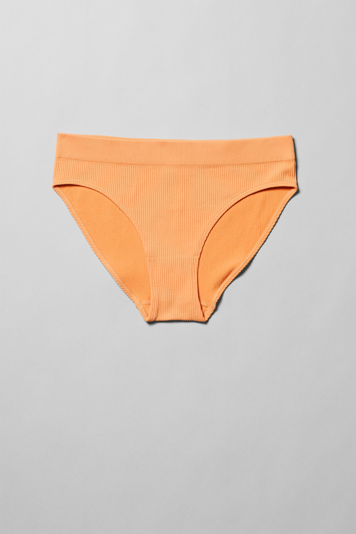 Front image of Weekday cat briefs in orange