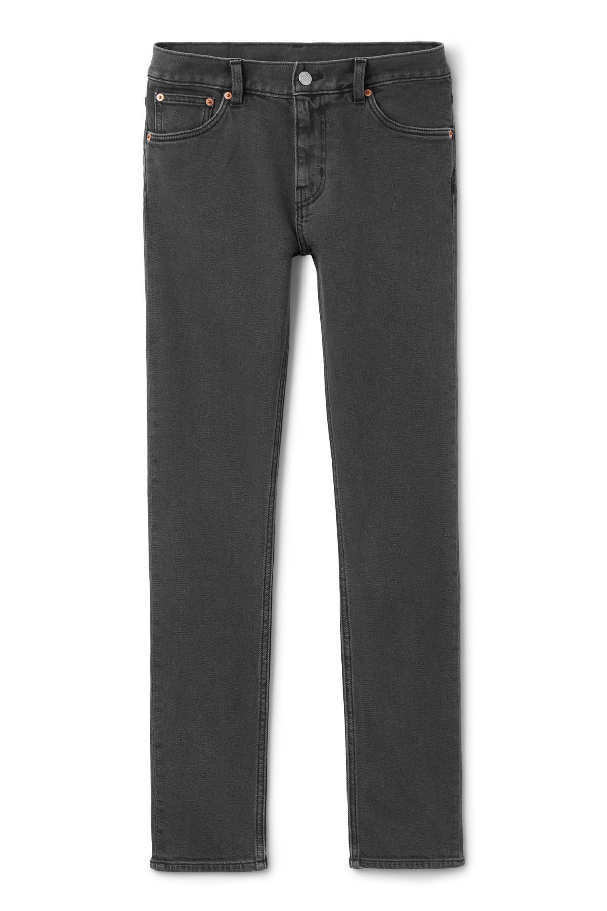 Front image of Weekday friday black favor jeans in black