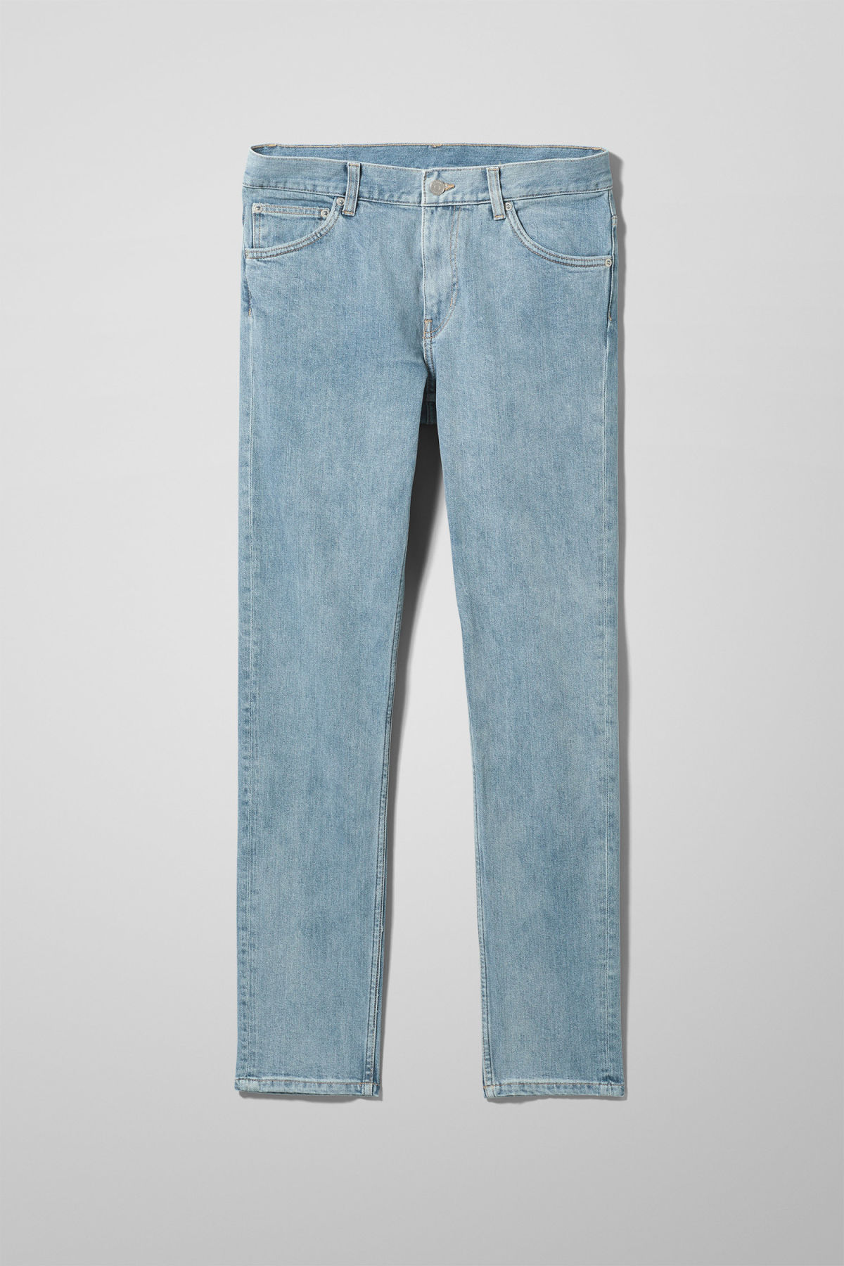 Front image of Weekday friday lagoon blue jeans in blue