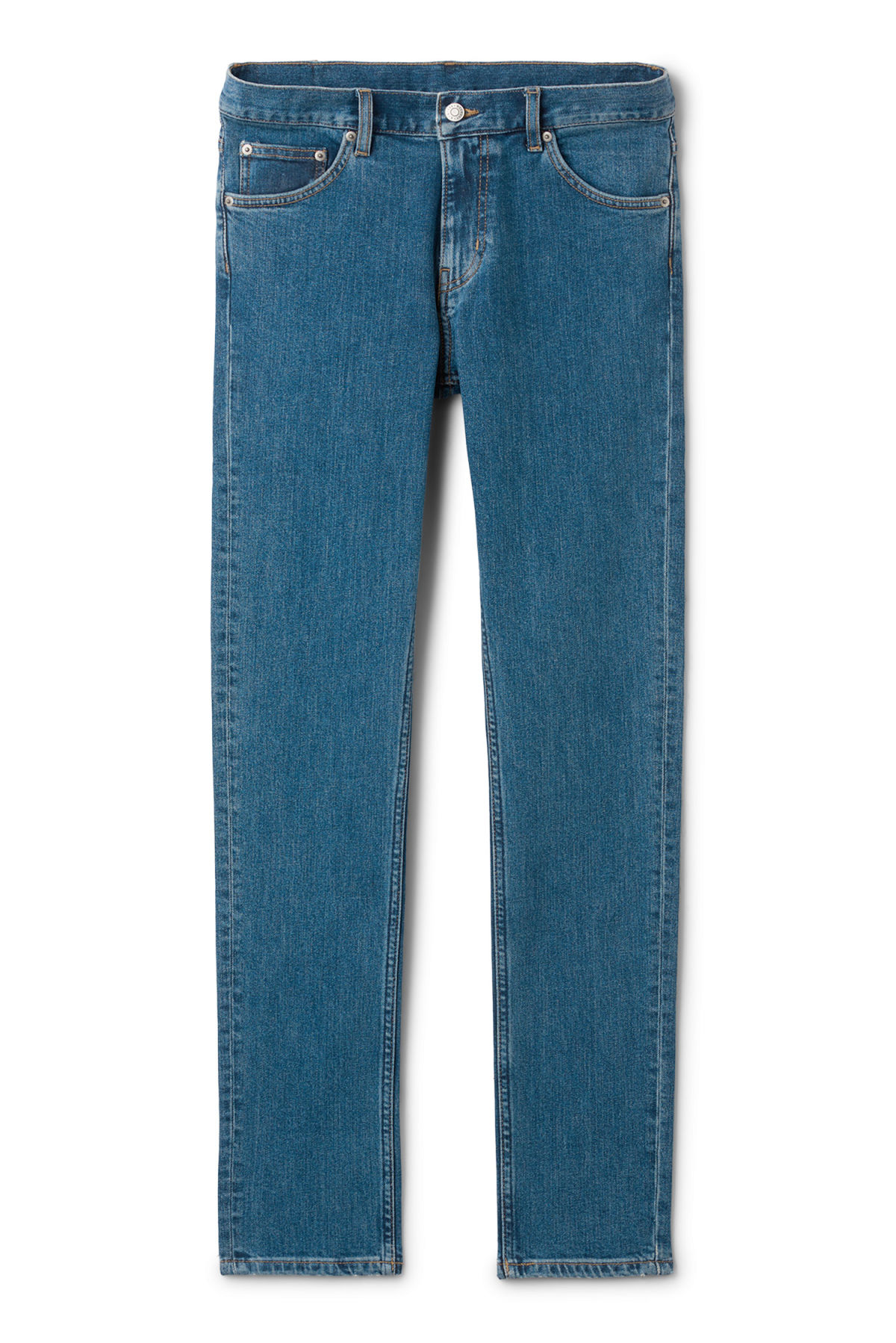 Front image of Weekday friday mid standard jeans in blue