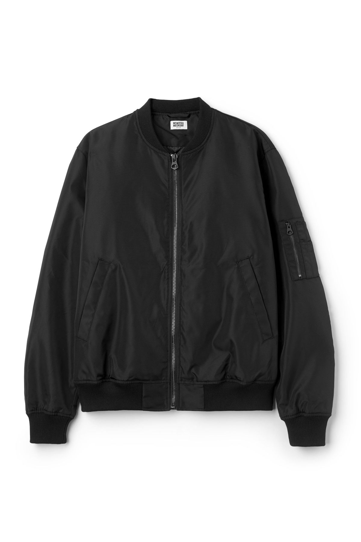 Front image of Weekday mission bomber in black