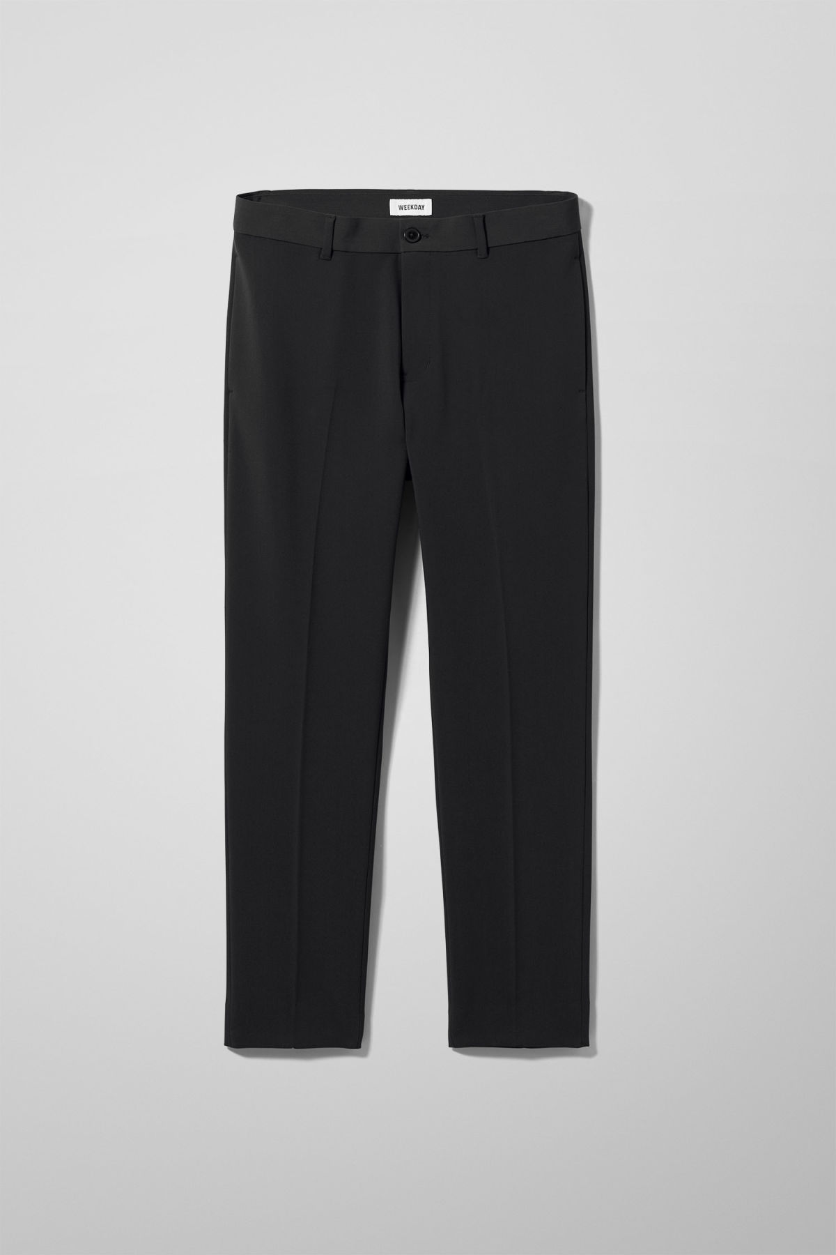 Front image of Weekday riffle trousers  in black