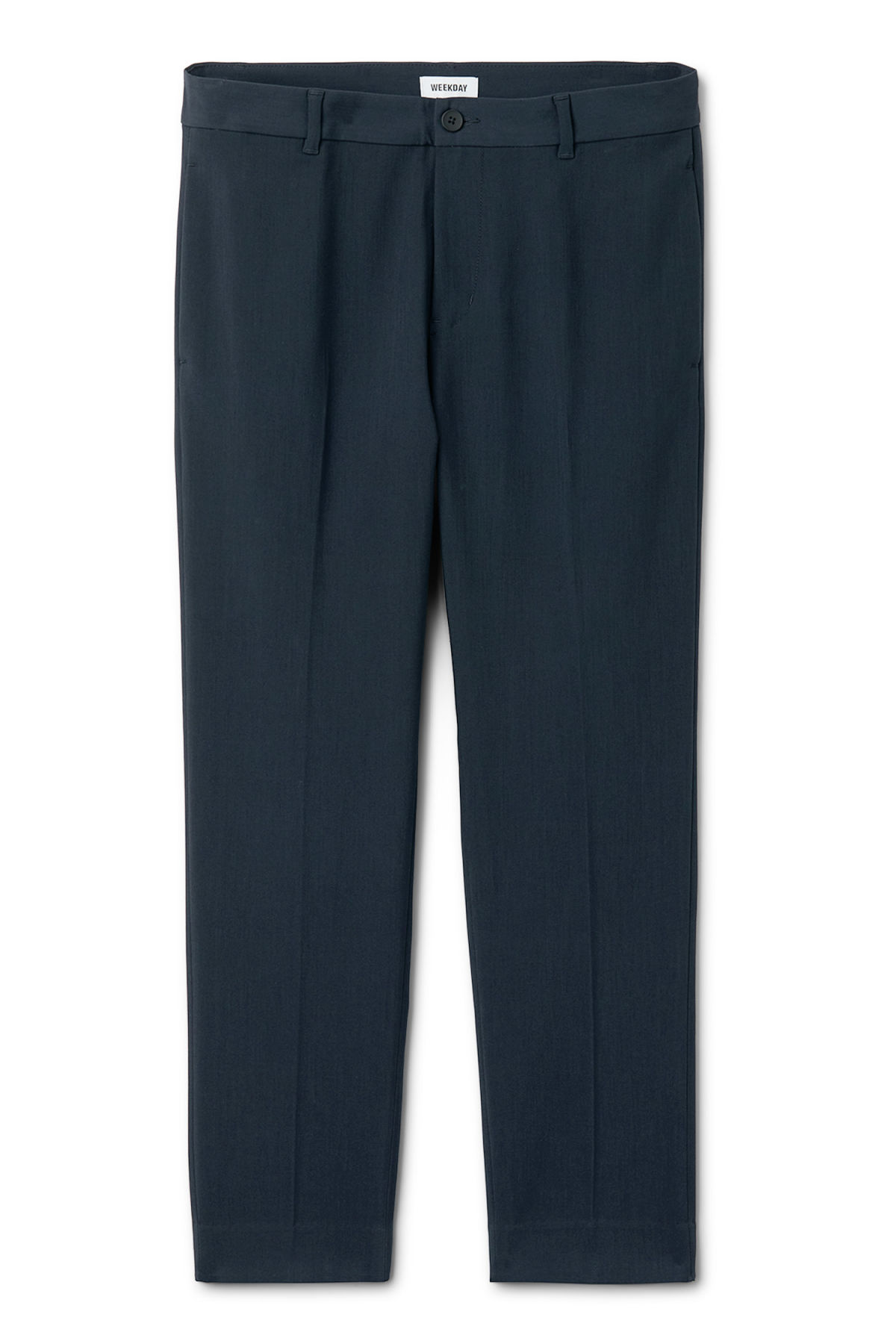 Front image of Weekday riffle trousers  in blue