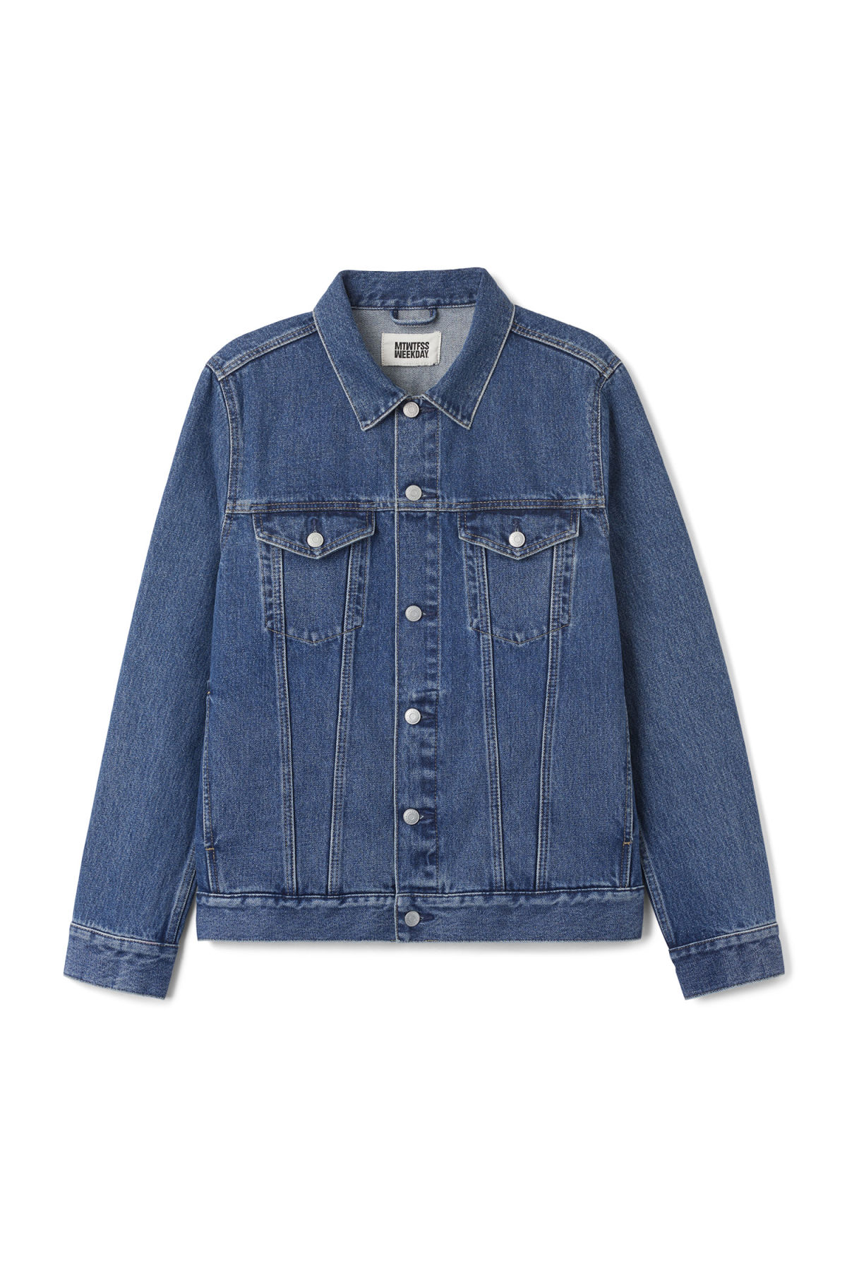 Front image of Weekday single jacket  in blue