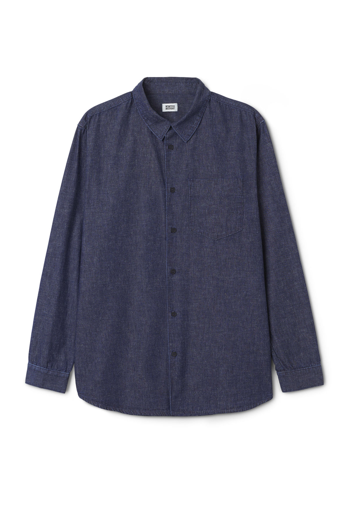 Front image of Weekday clean shirt in blue
