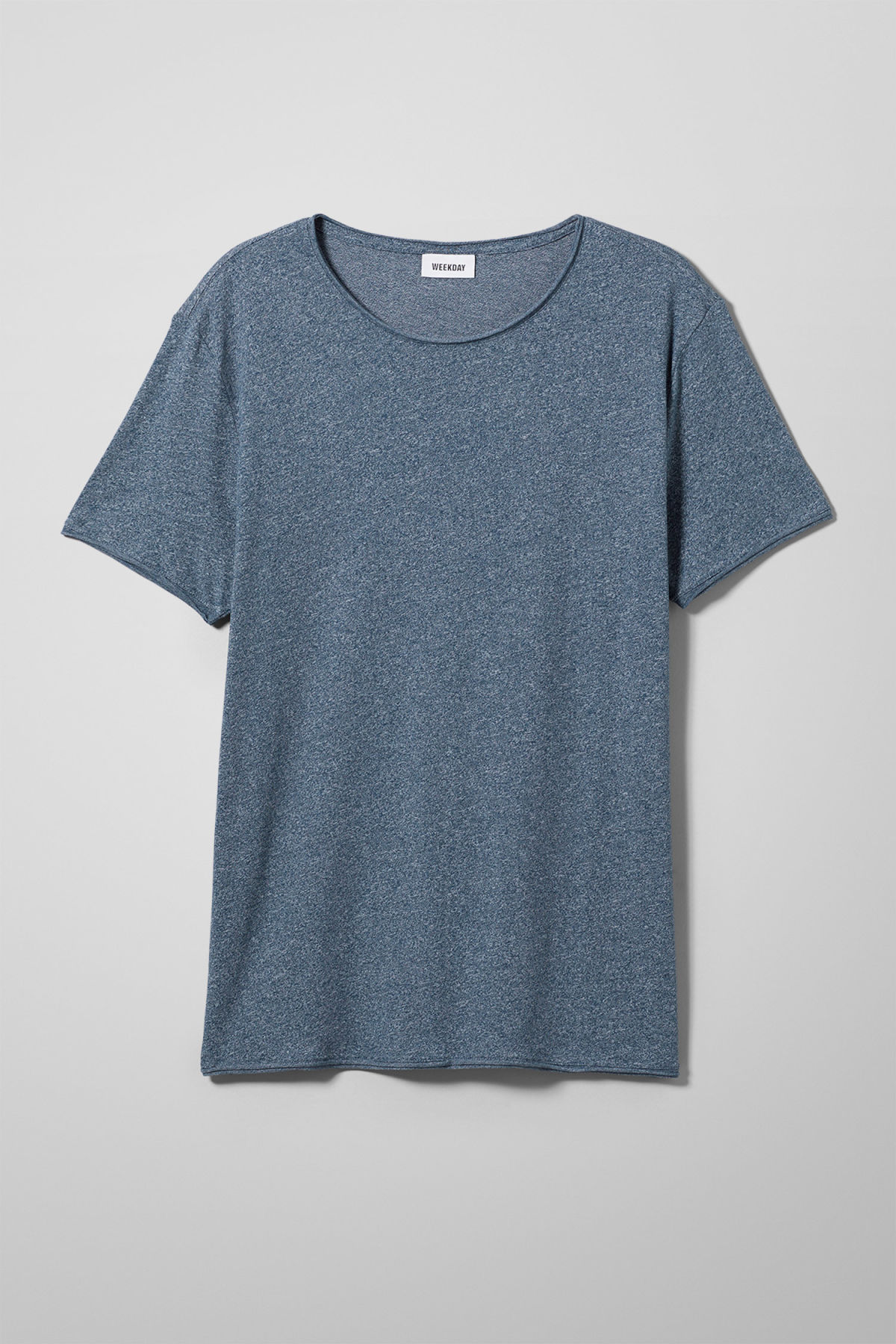 Front image of Weekday dark t-shirt in turquoise