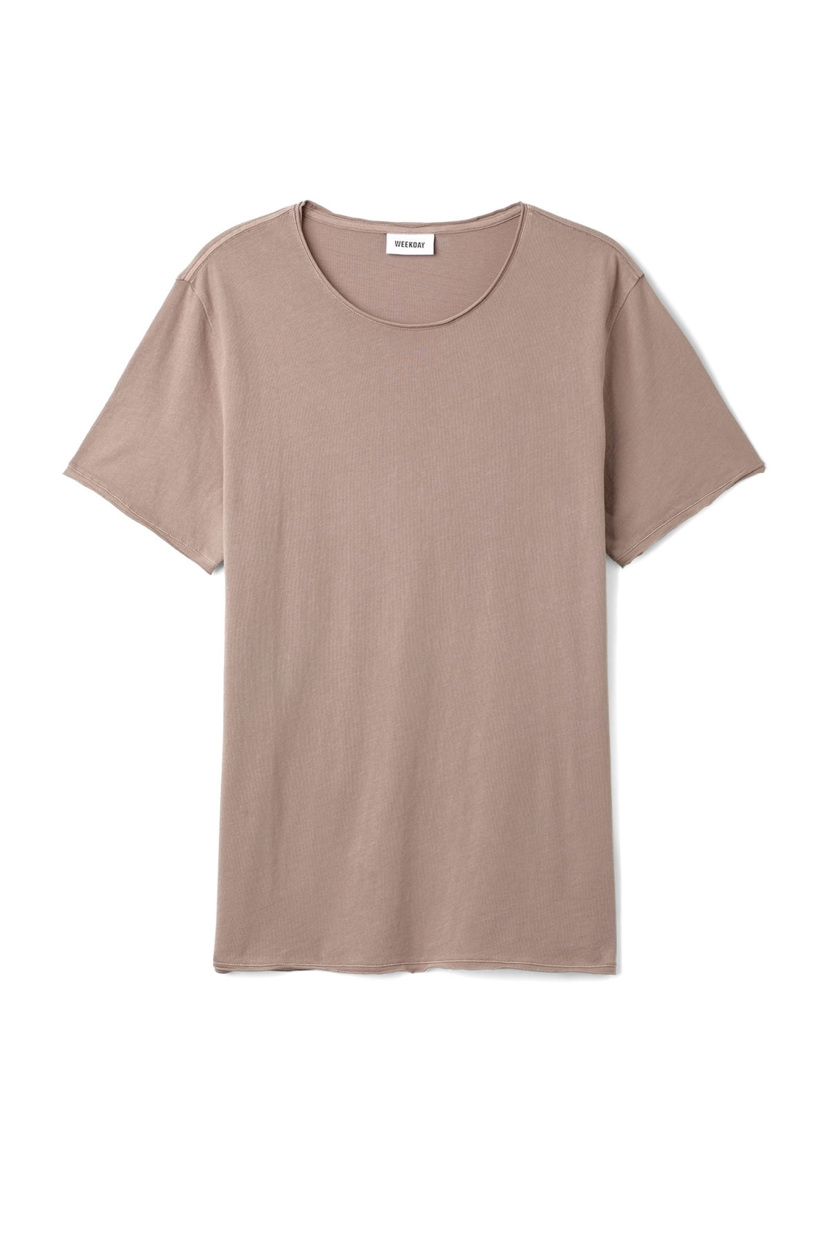 Front image of Weekday dark t-shirt in brown