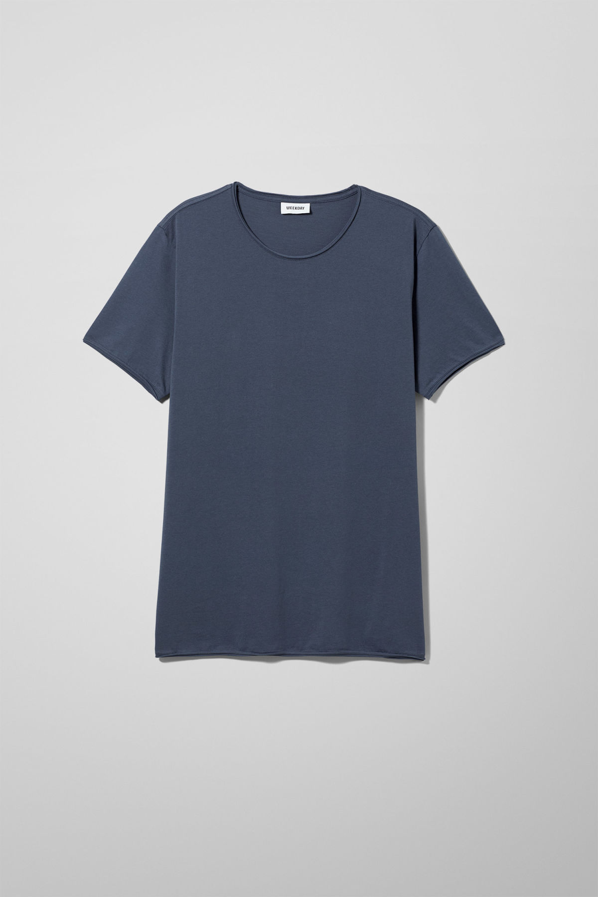 Front image of Weekday dark t-shirt in blue