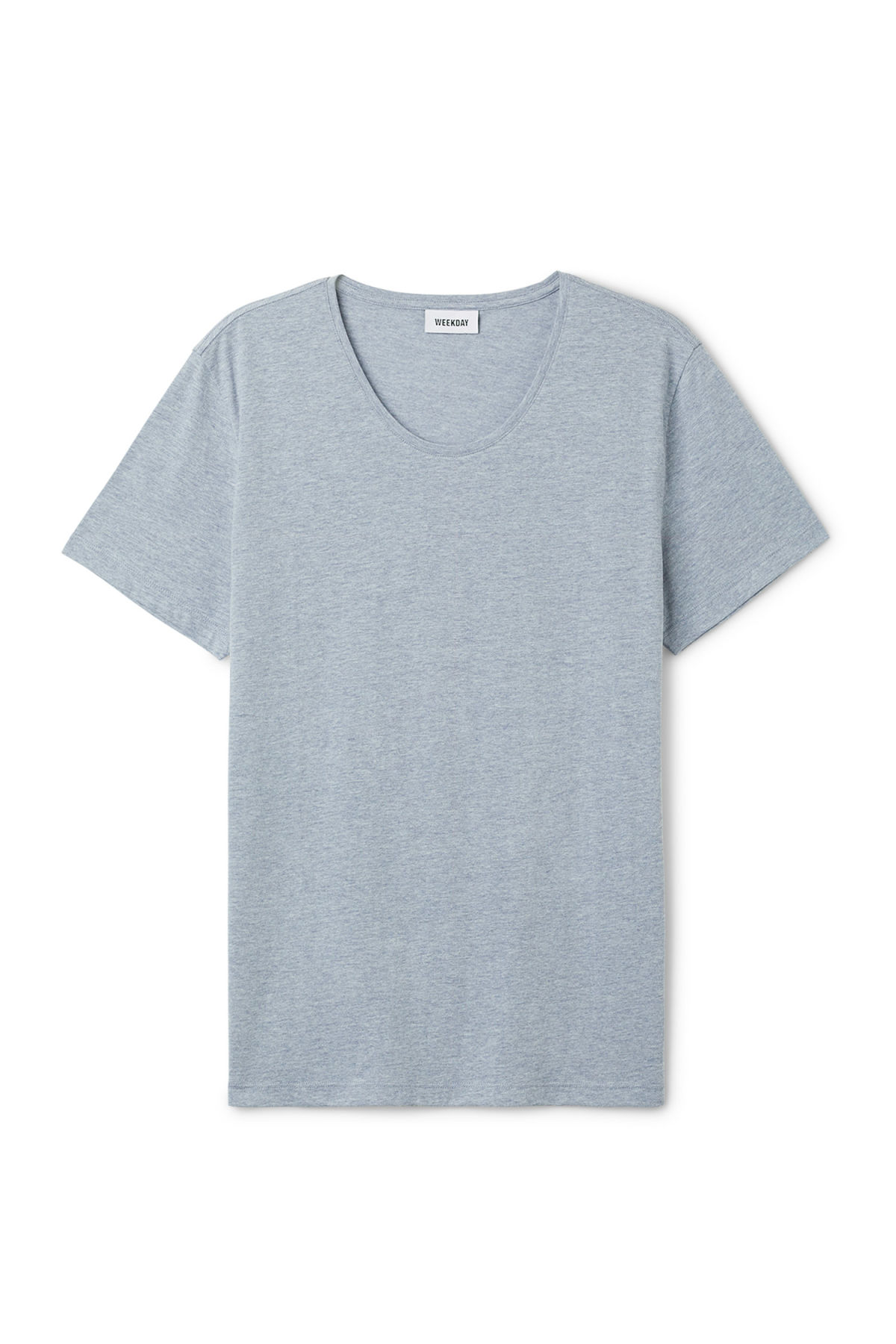 Front image of Weekday daniel t-shirt in blue