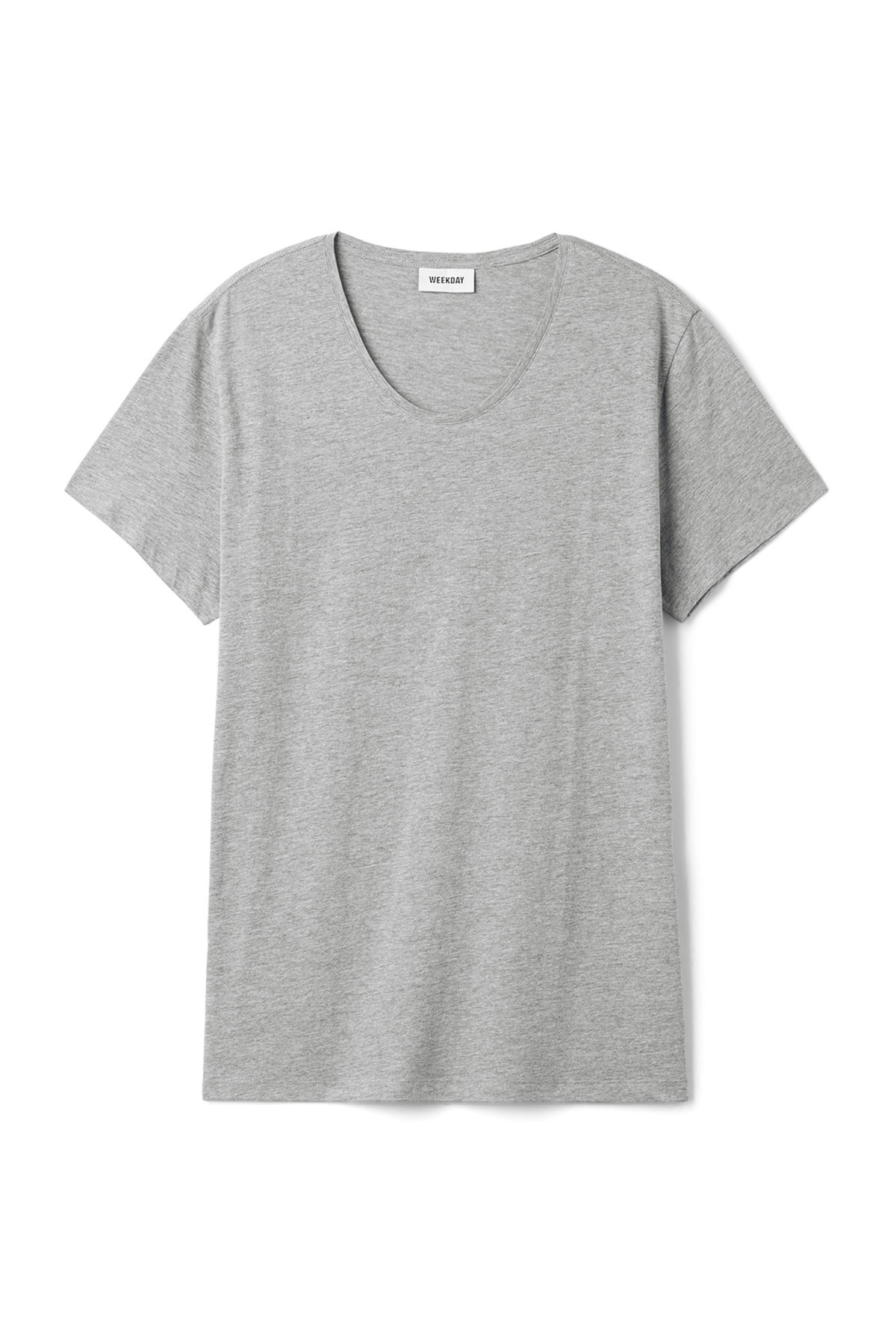 Front image of Weekday daniel t-shirt in grey