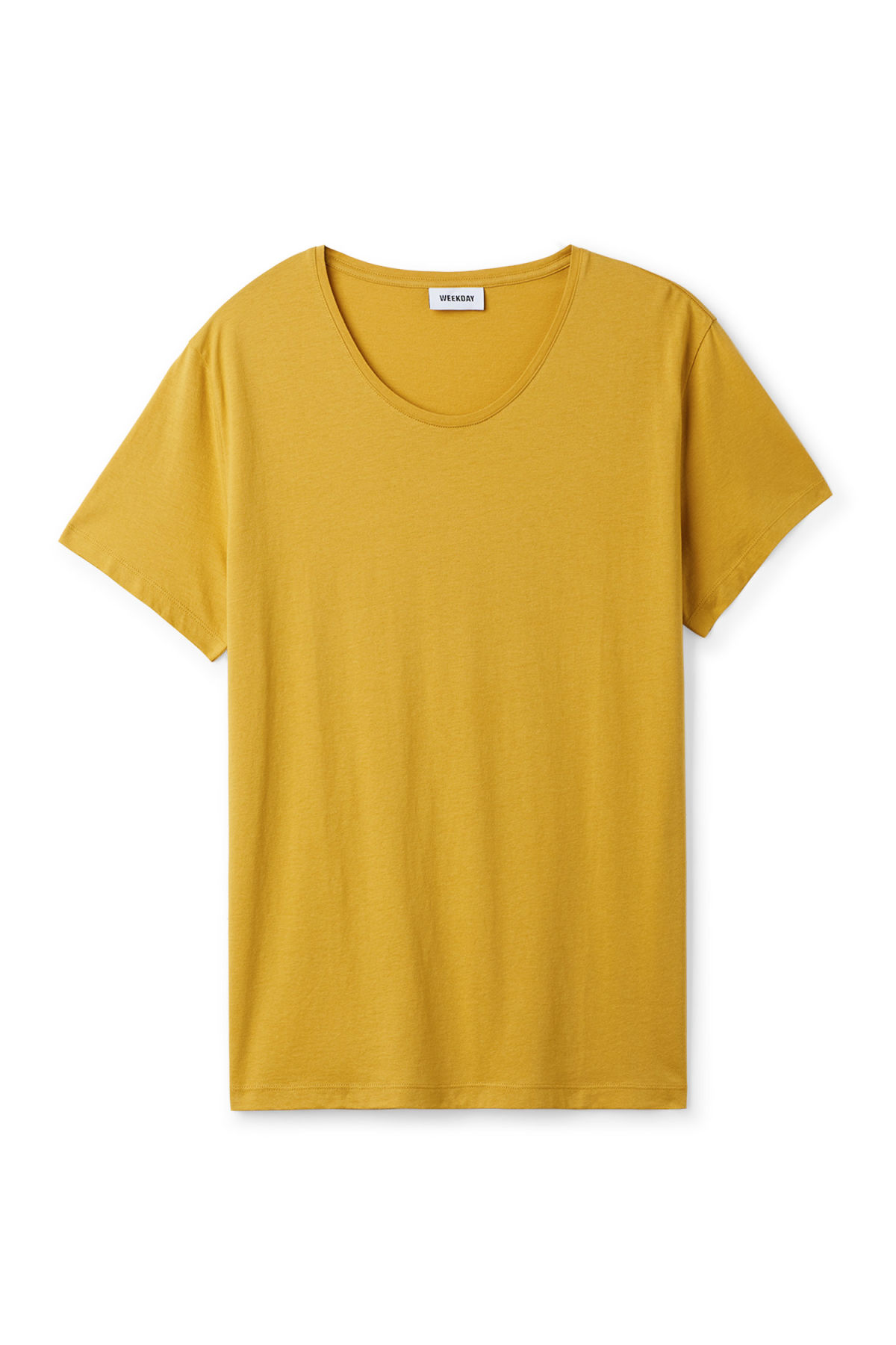 Front image of Weekday daniel t-shirt in yellow