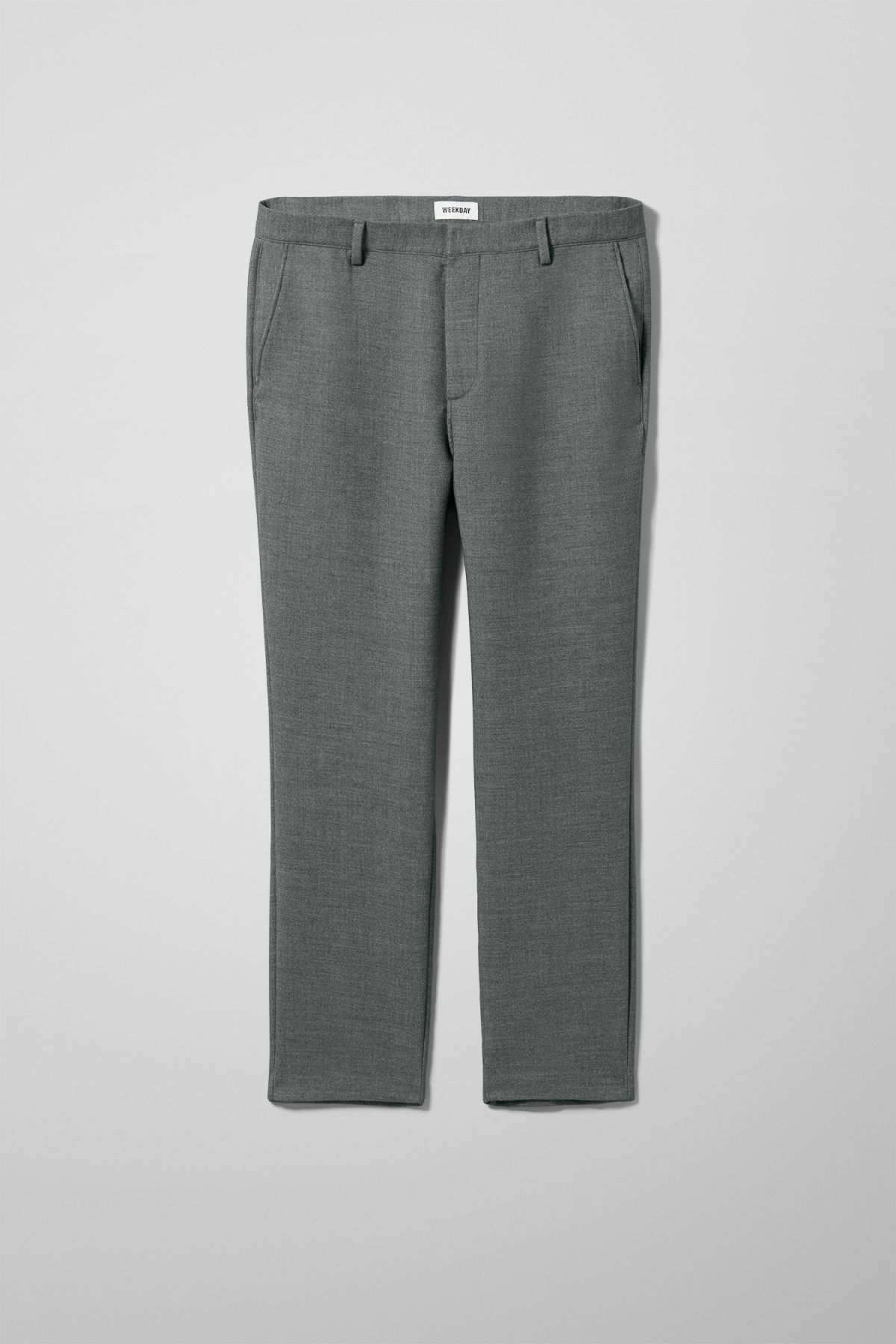 Front image of Weekday arvid trousers in grey