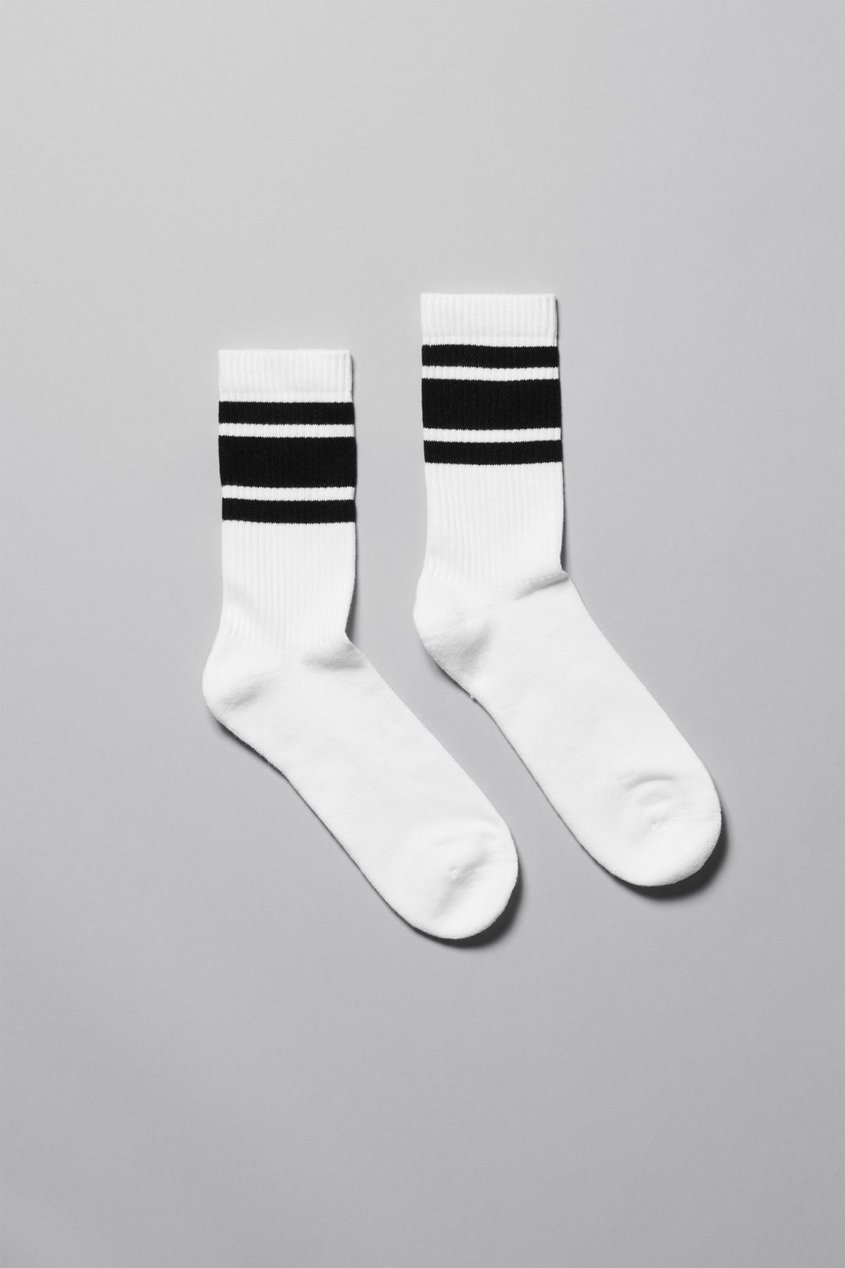 Front image of Weekday ten socks in white