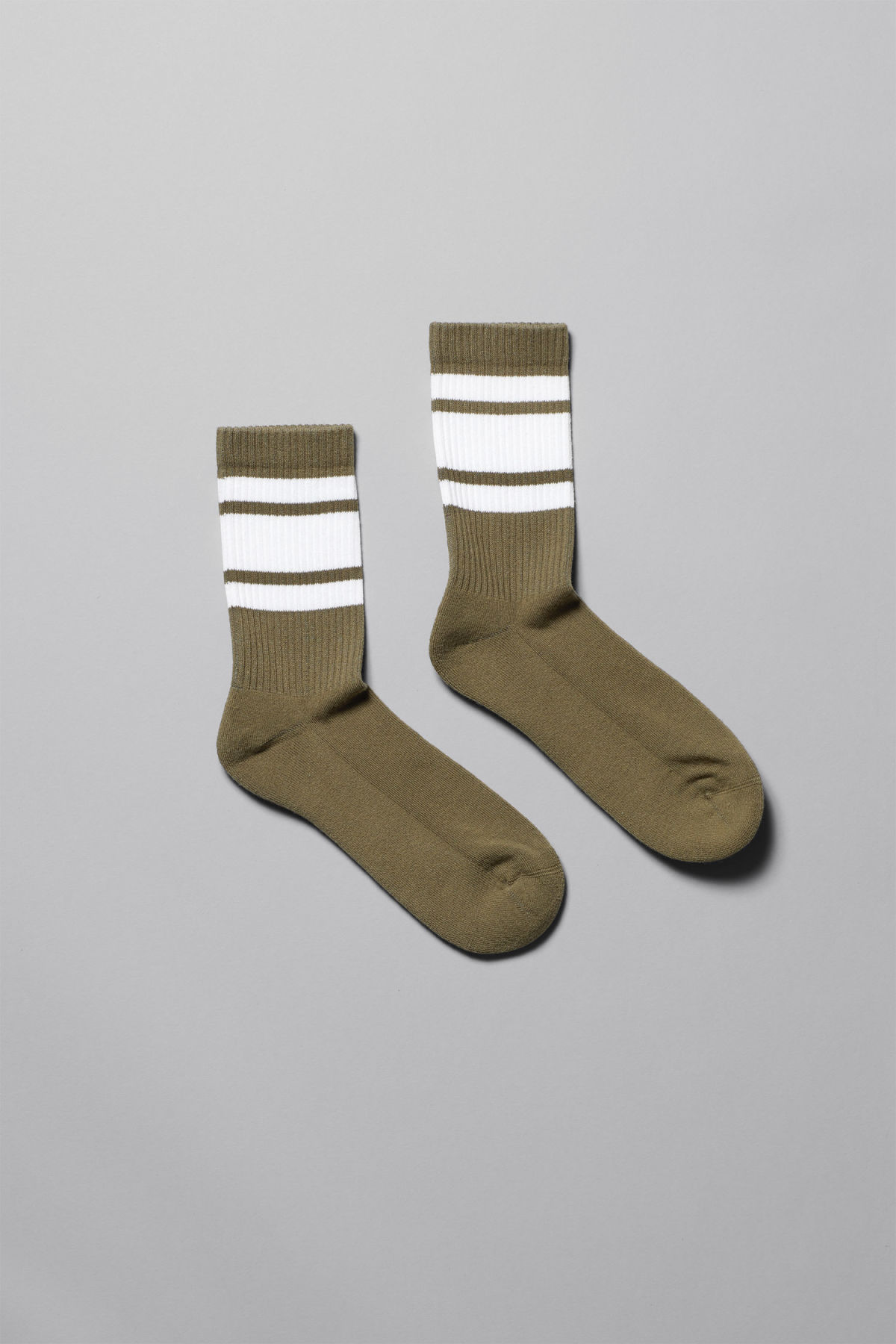 Front image of Weekday ten socks in green