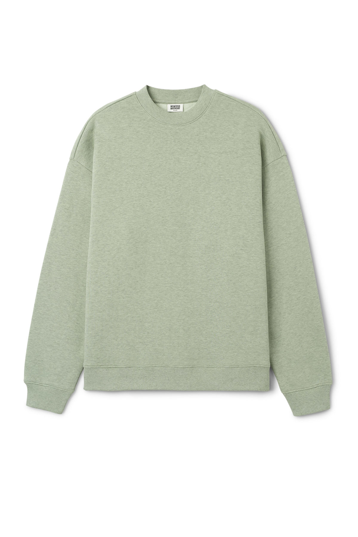 Front image of Weekday big steve sweatshirt in green