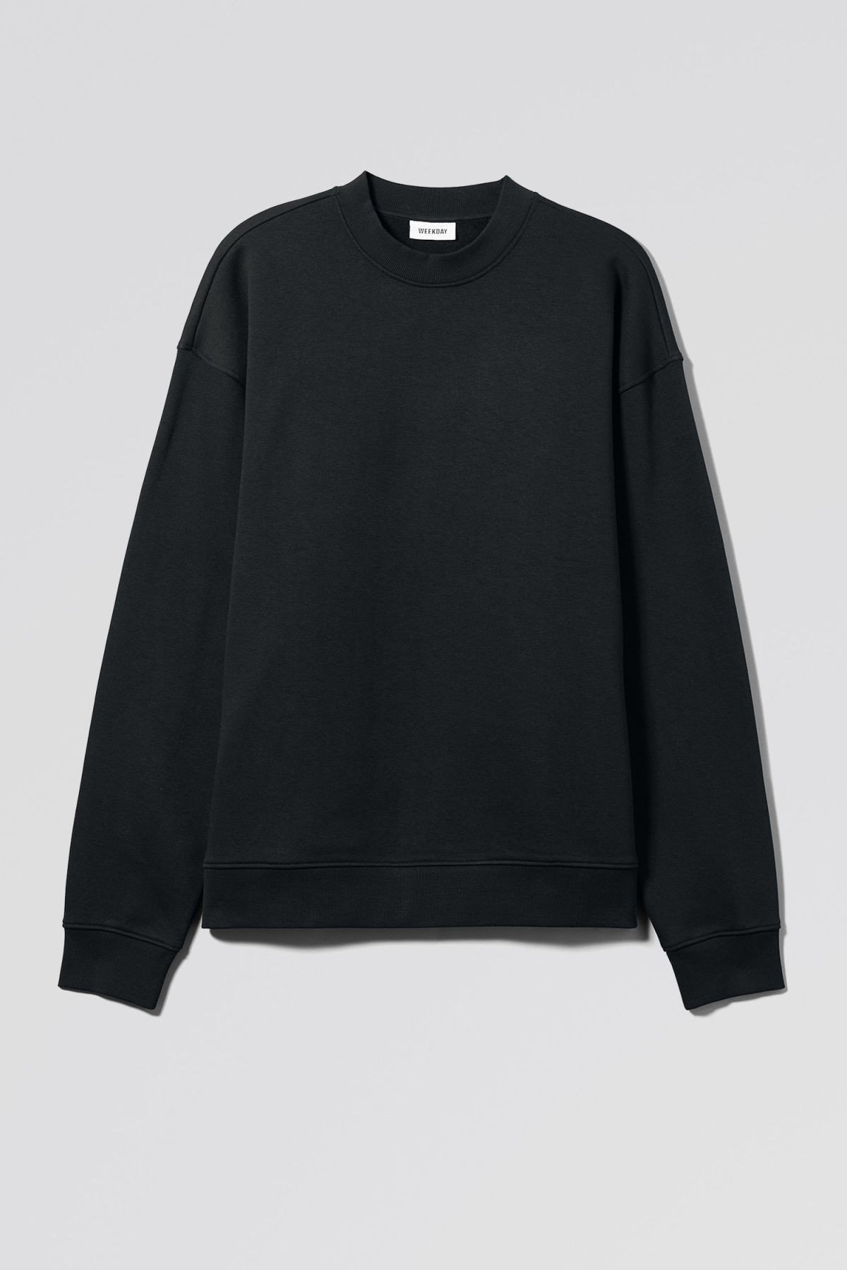 Front image of Weekday big steve sweatshirt in black