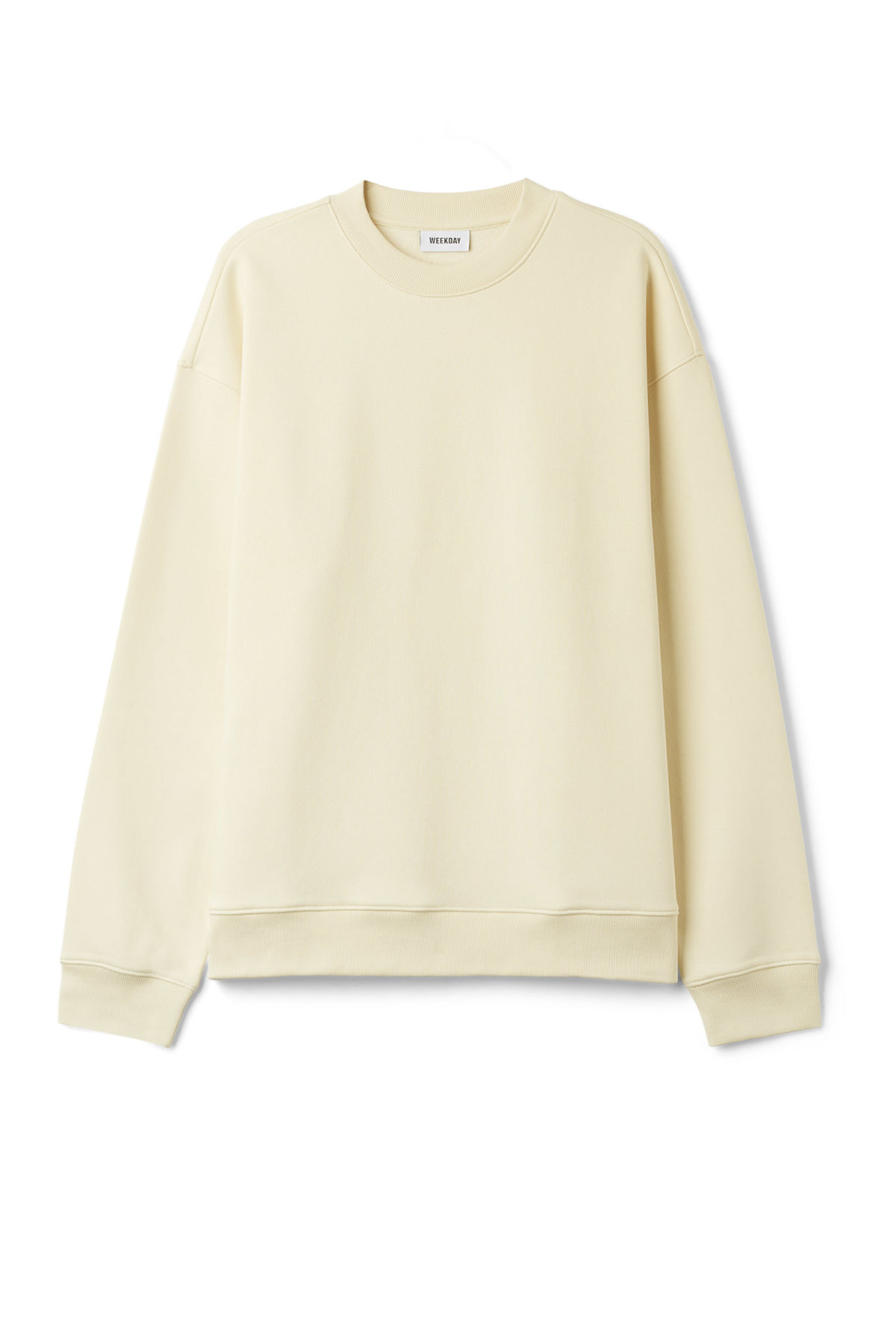 Front image of Weekday big steve sweatshirt in beige