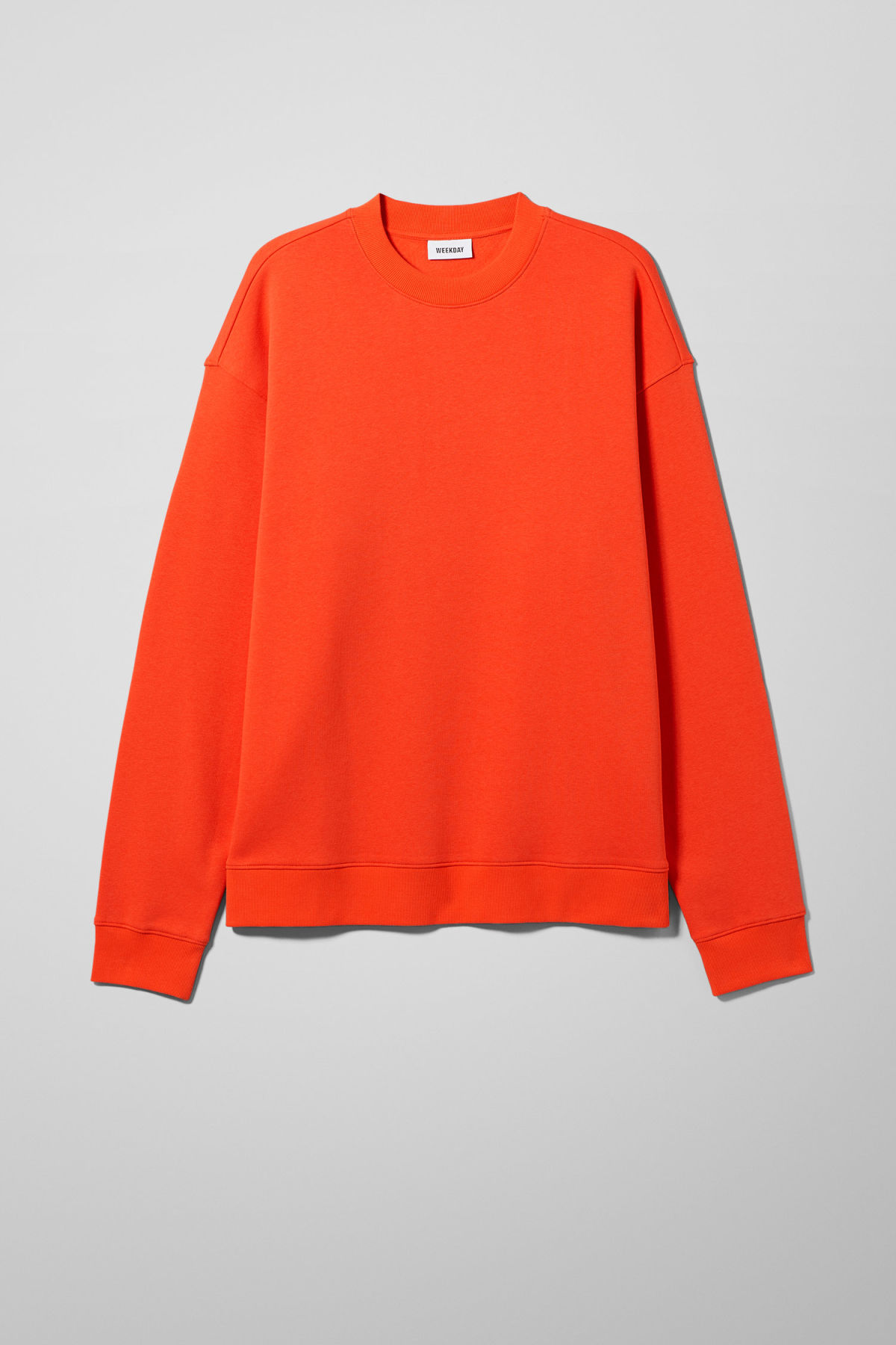 Front image of Weekday big steve sweatshirt in orange