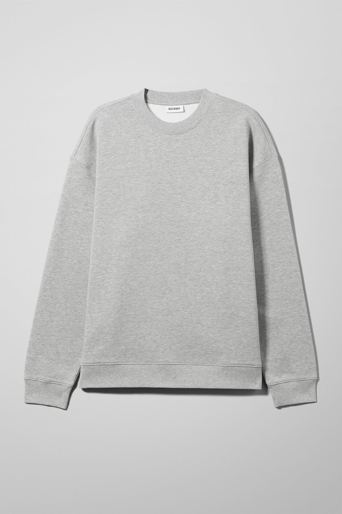 Front image of Weekday big steve sweatshirt in grey