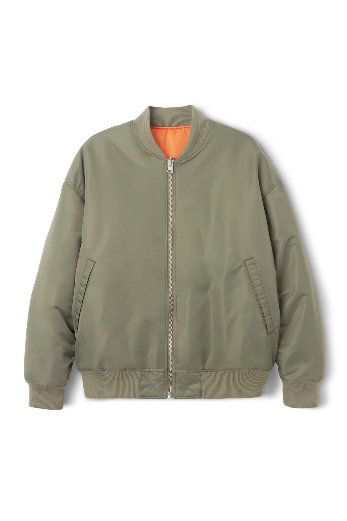 Front image of Weekday big bomber in green