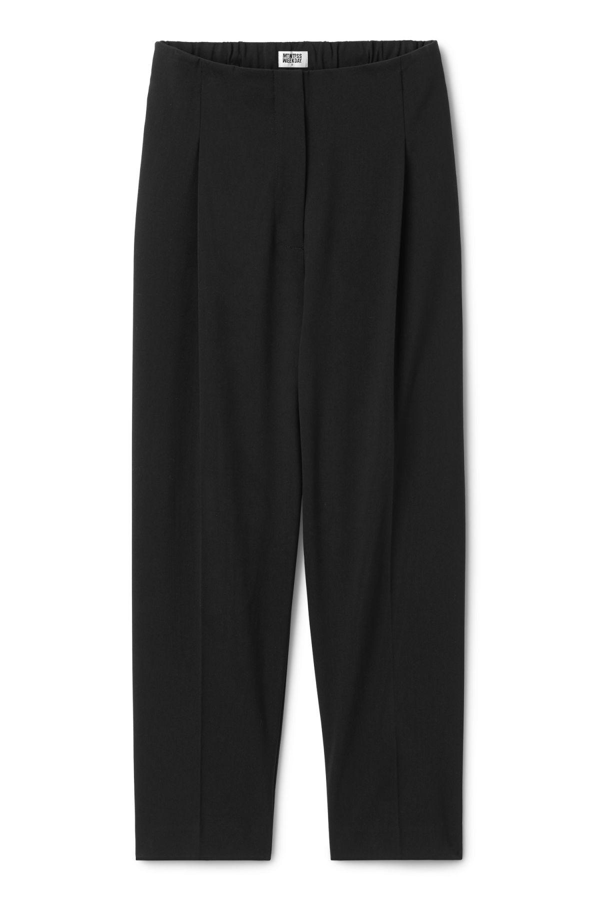 Front image of Weekday ritz trousers in black