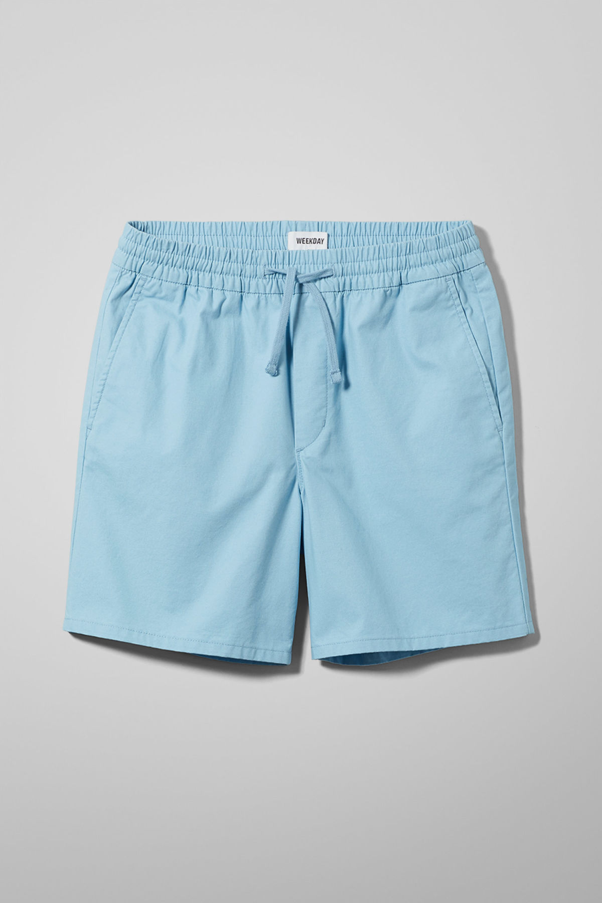 Front image of Weekday olsen shorts in blue