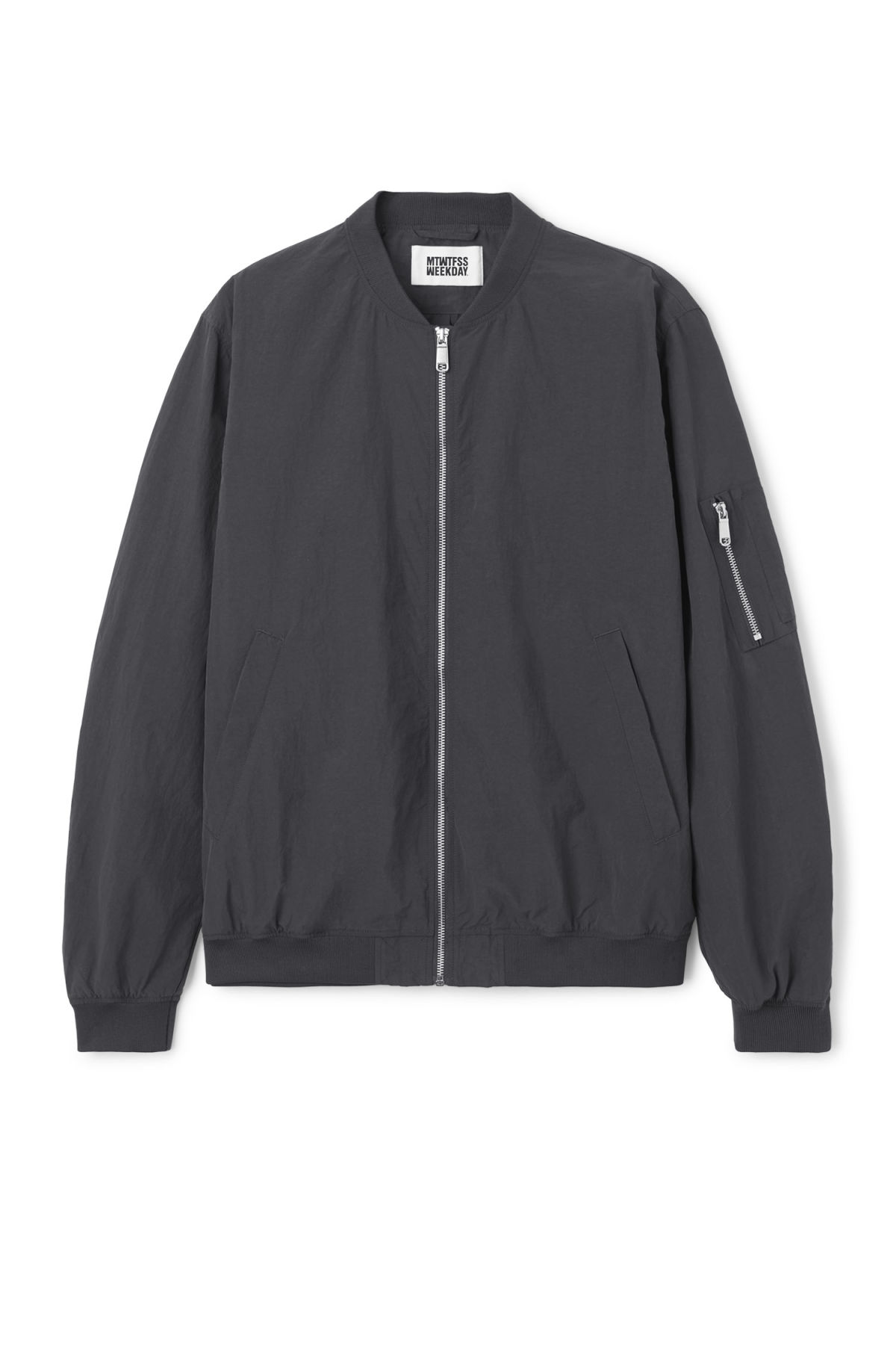 Front image of Weekday cone bomber in black