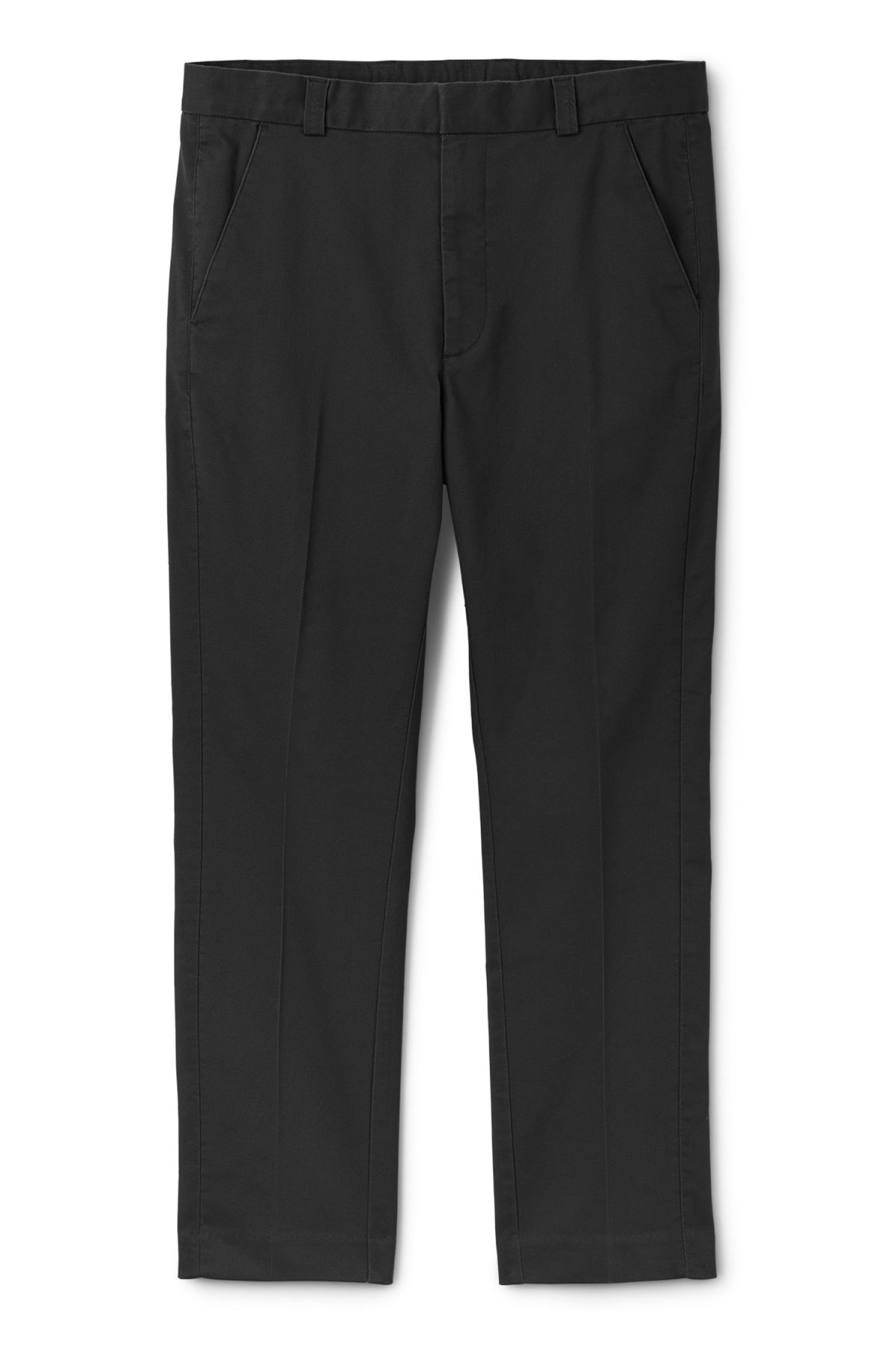 Front image of Weekday sergei trousers in black