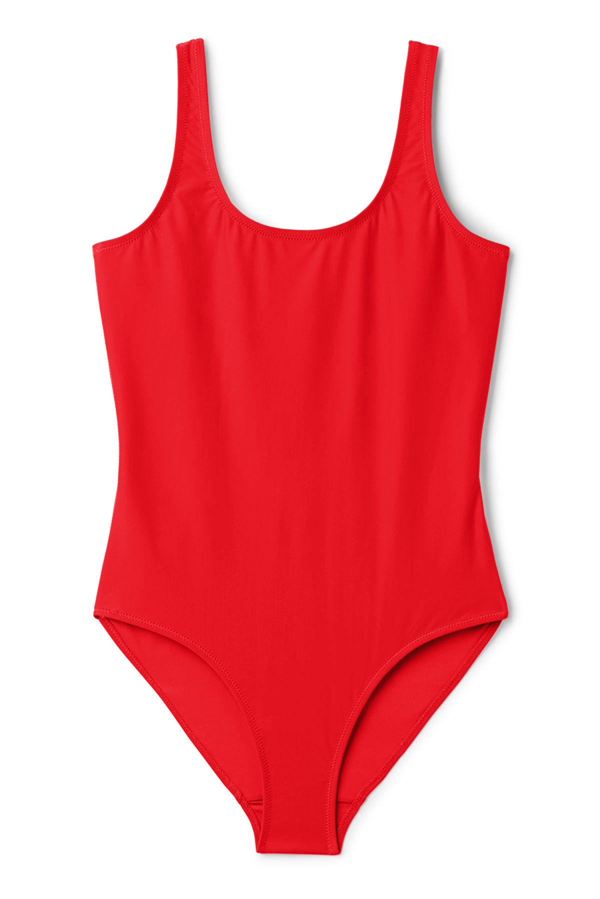 Front image of Weekday day swimsuit in red