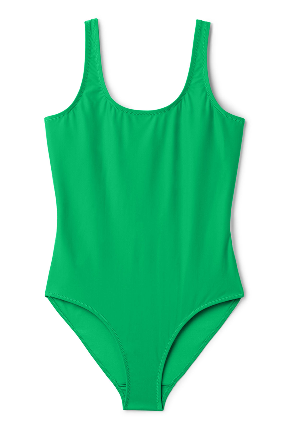 Front image of Weekday day swimsuit in green