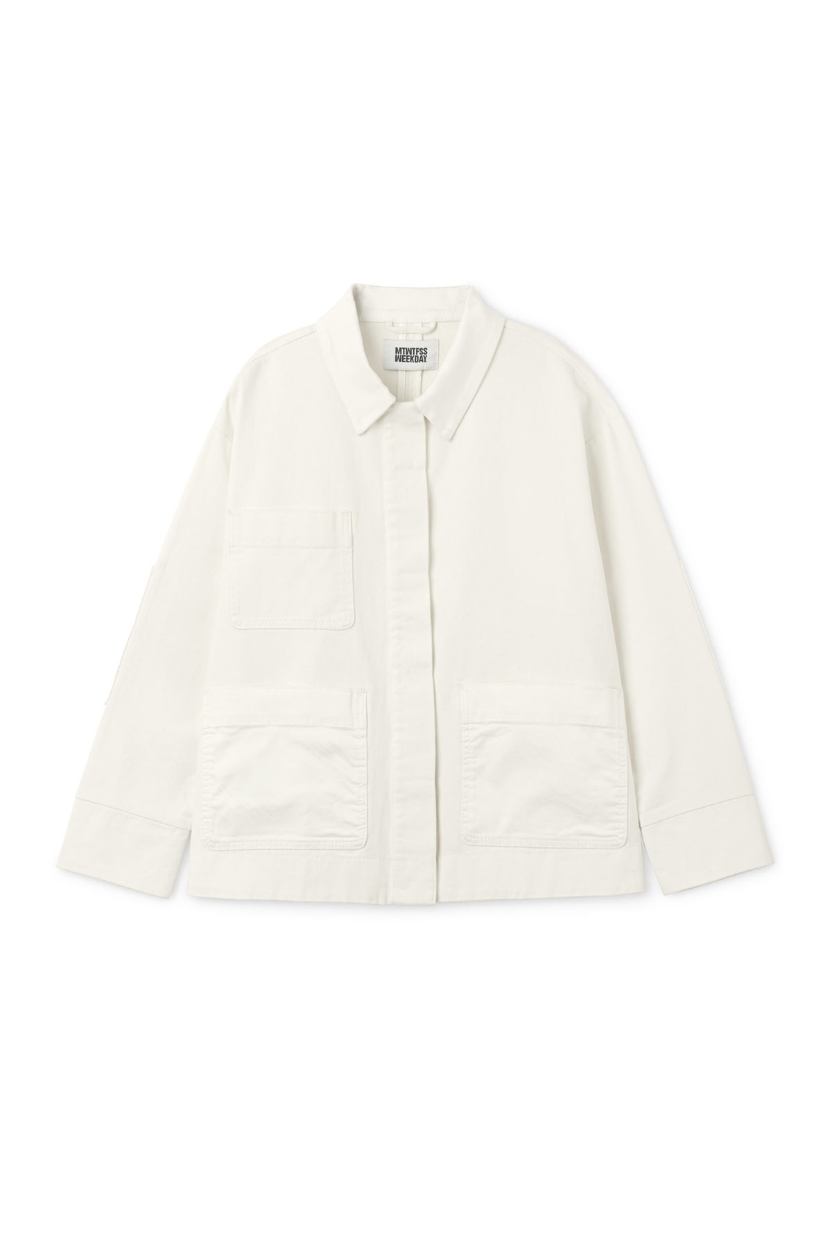 Front image of Weekday ina jacket in white