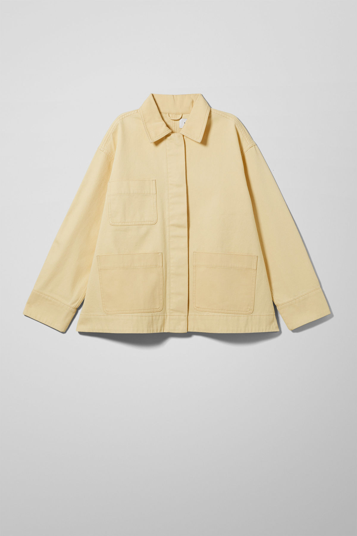 Front image of Weekday ina jacket in yellow