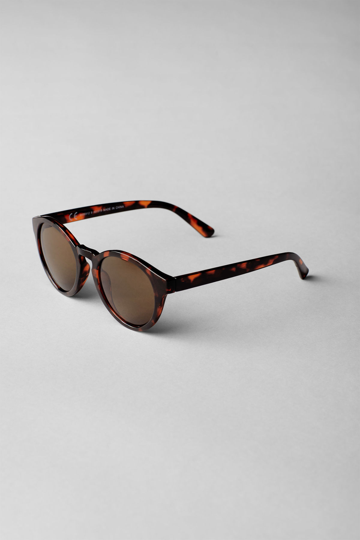 Back image of Weekday transfer rounded sunglasses in brown